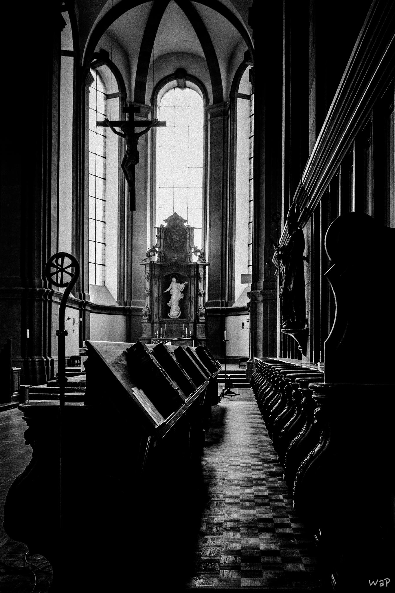 Photo in Black and White #abbey #church #sacral