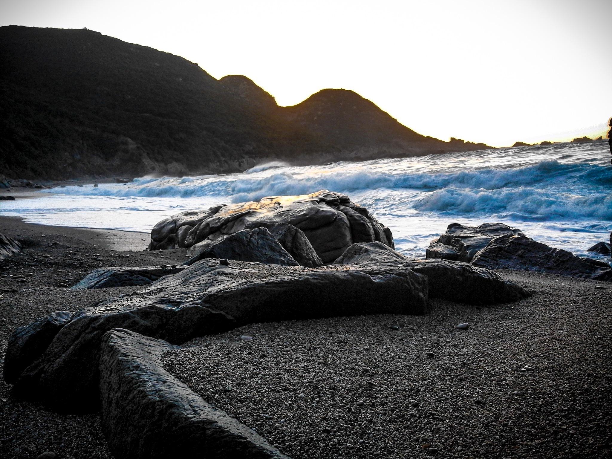 thru rocks by Charaf Eddine