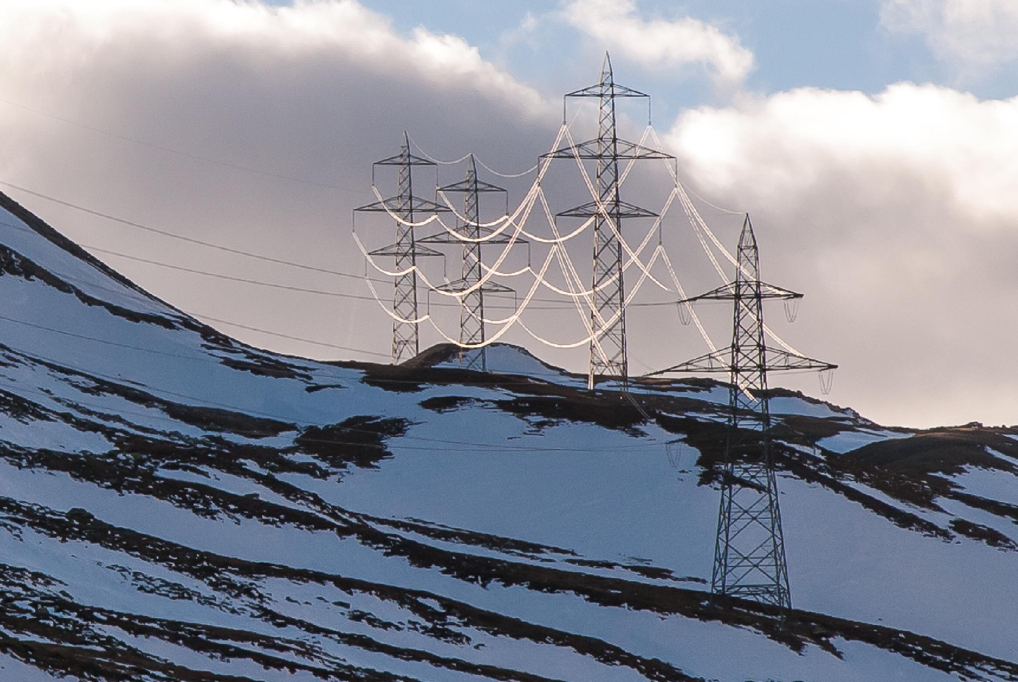 Photo in Landscape #electric #lines #switzerland