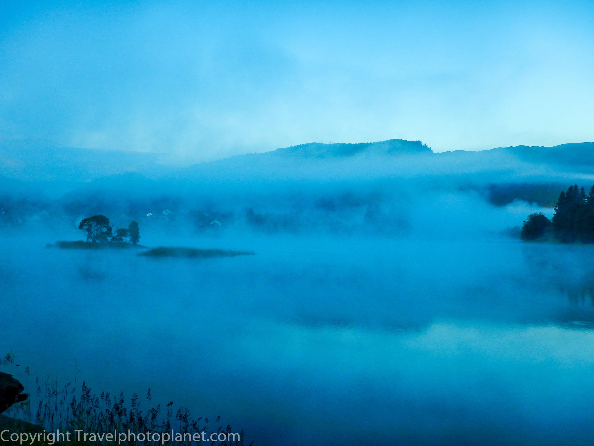 Photo in Landscape #mist #fog #lake #gaupåsvatnet #landscape #bergen #norway