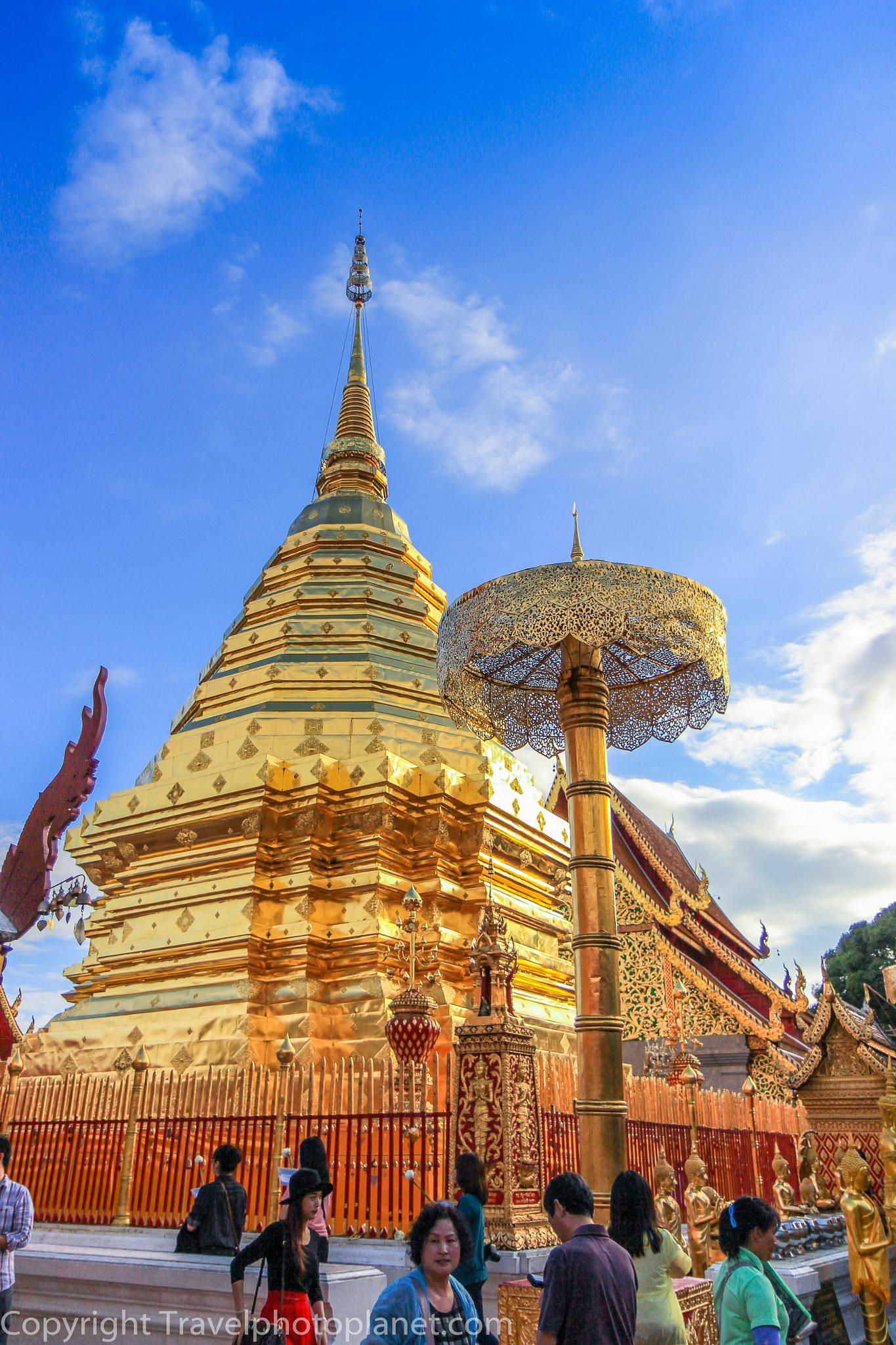 Photo in Travel #travel #tourism #religion #buddhism #tempel #stupa #wat phra that doi suthep #chiang mai #thailand #pilgrim