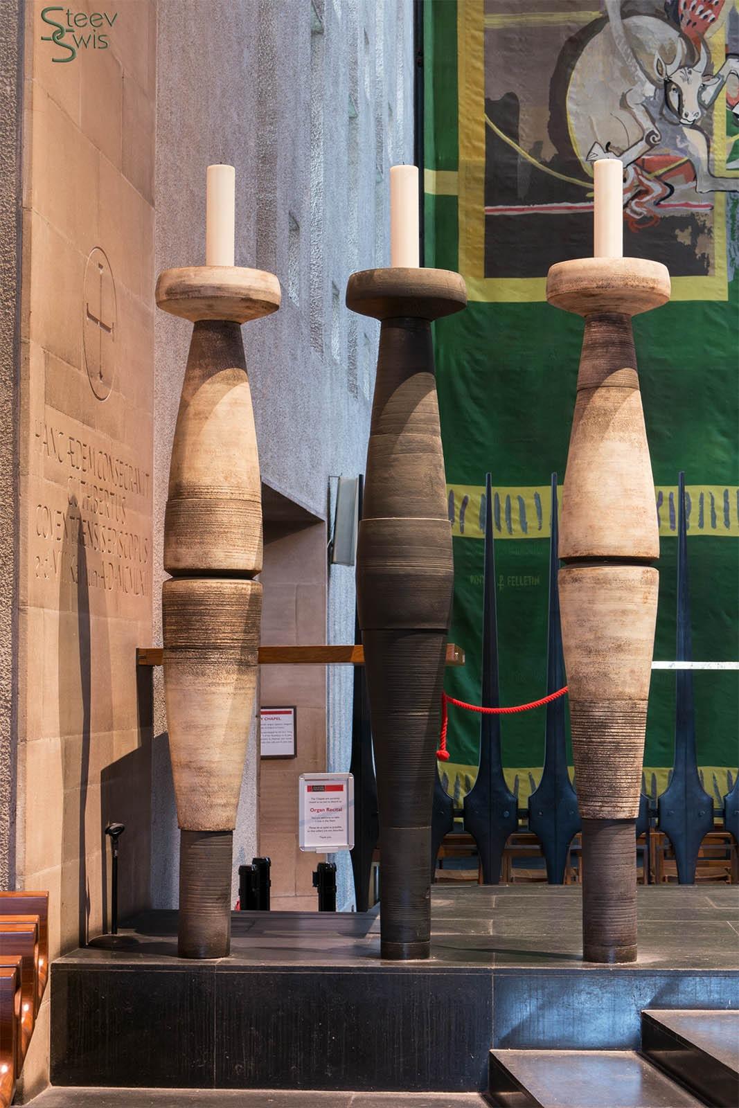 huge candlesticks by Steve Swis