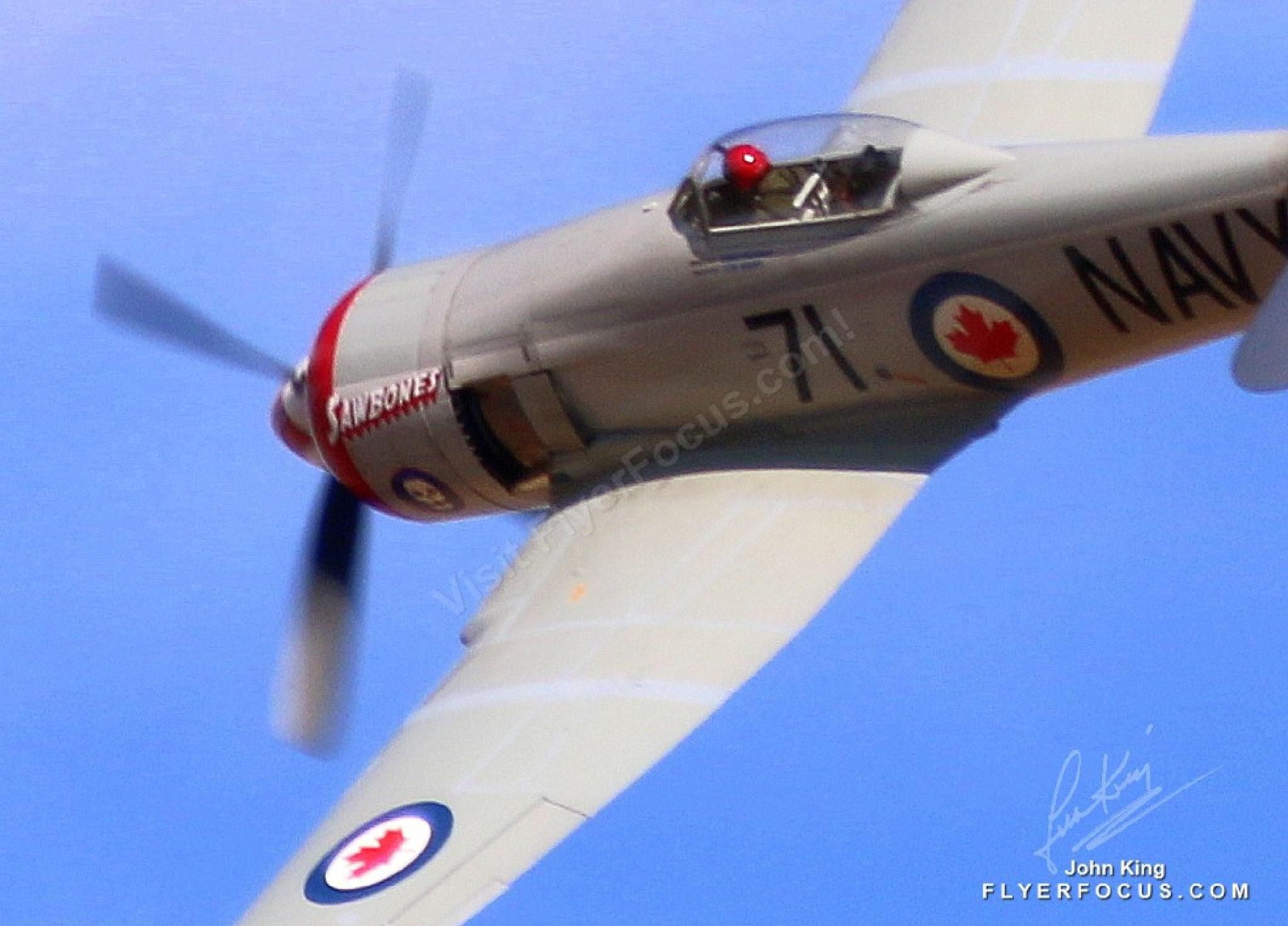 Sawbones, Hawker Sea Fury, Rounds East Pylon at Reno Air Races. N71GB by John King