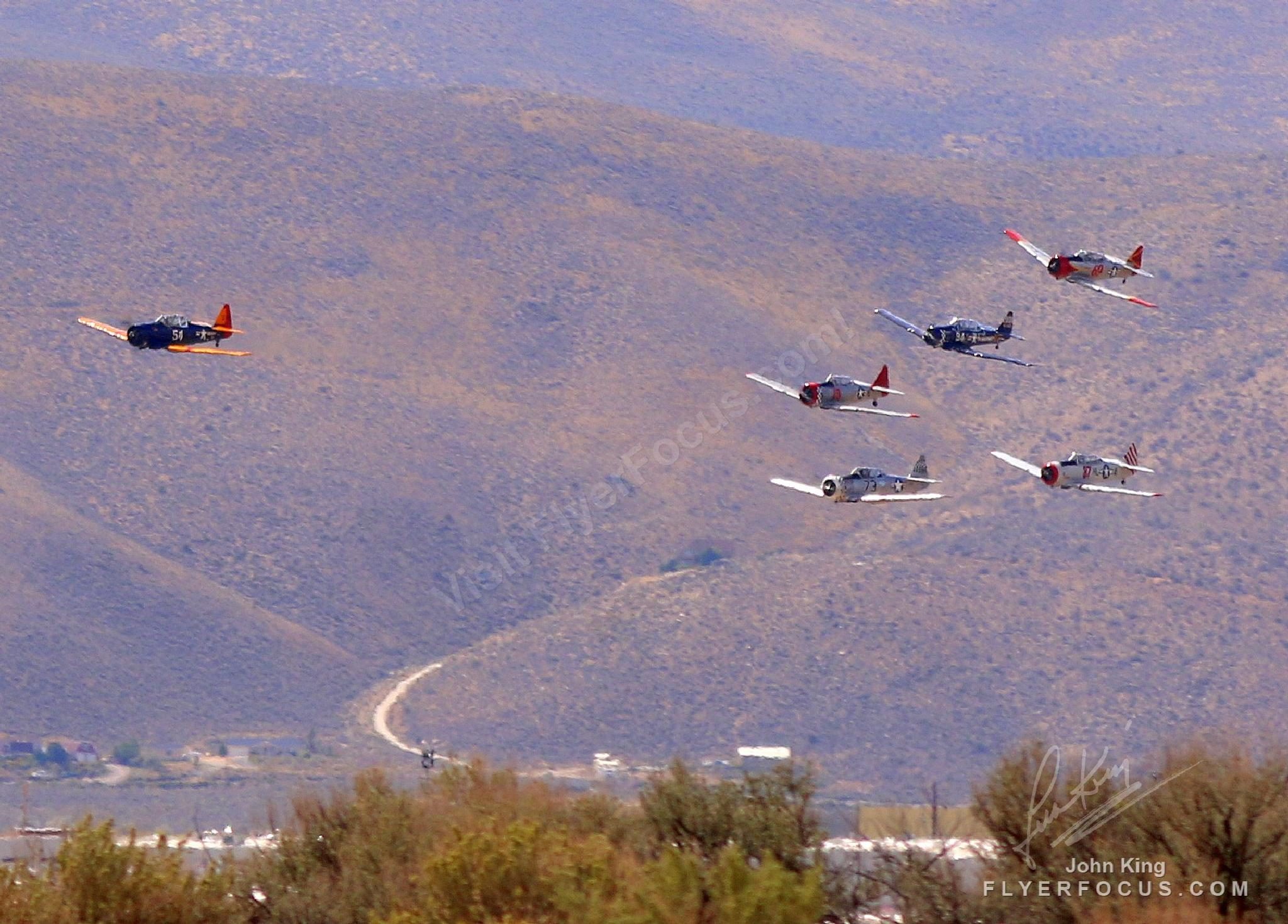 Who Unleashed the T6's at the Reno Air Races 2014 by John King