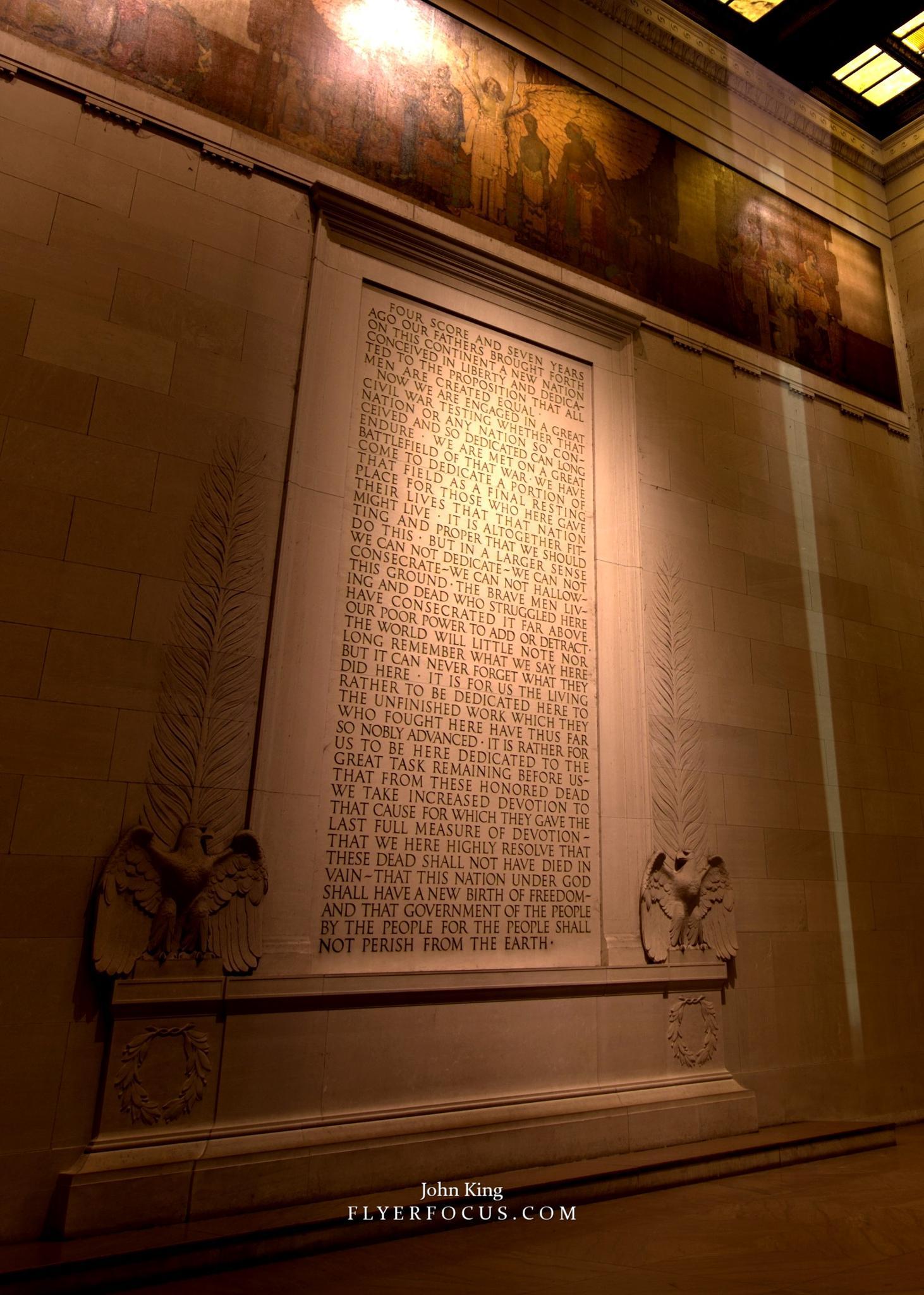 Gettysburg Address at Lincoln Memorial by John King