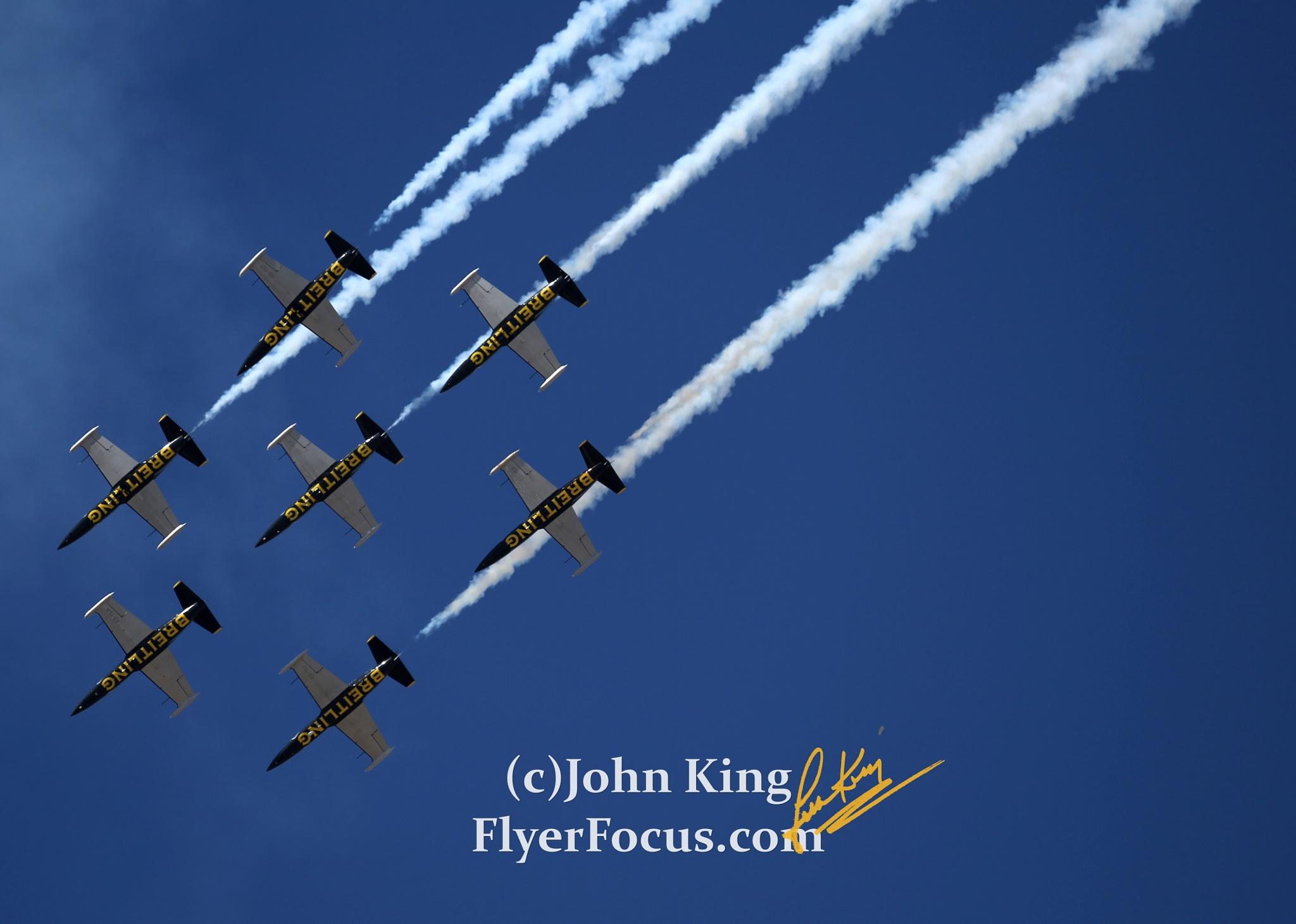 Breitling Team Performs at Reno Air Races by John King (ig: FlyerFocus)