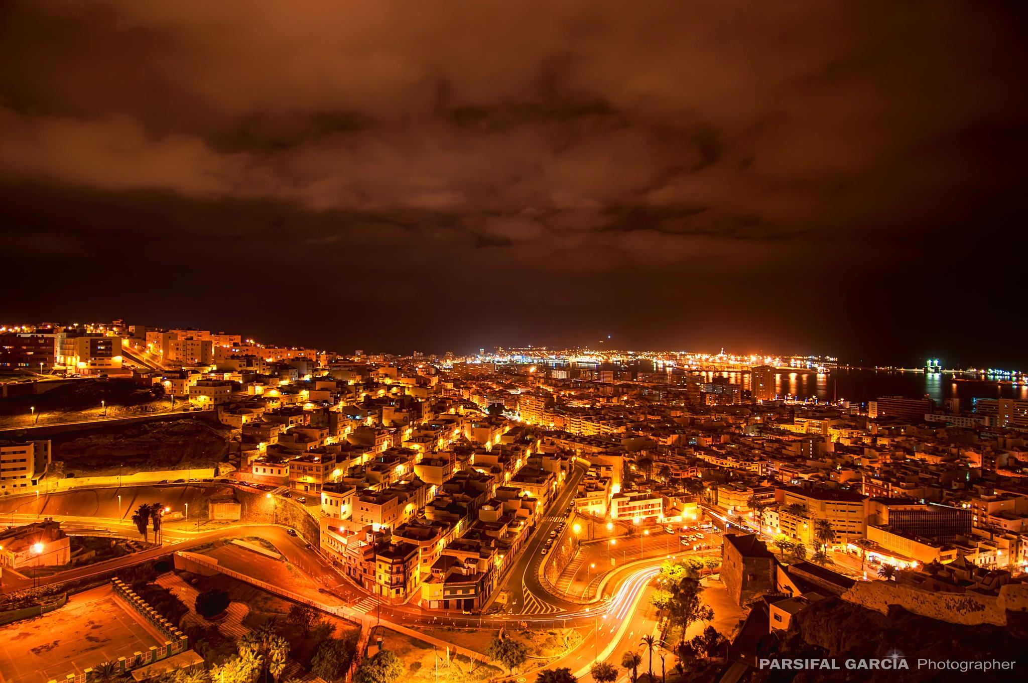 Photo in Cityscape #noche #night #ciudad #city #las palmas #gran canaria #landscape #cytyscape