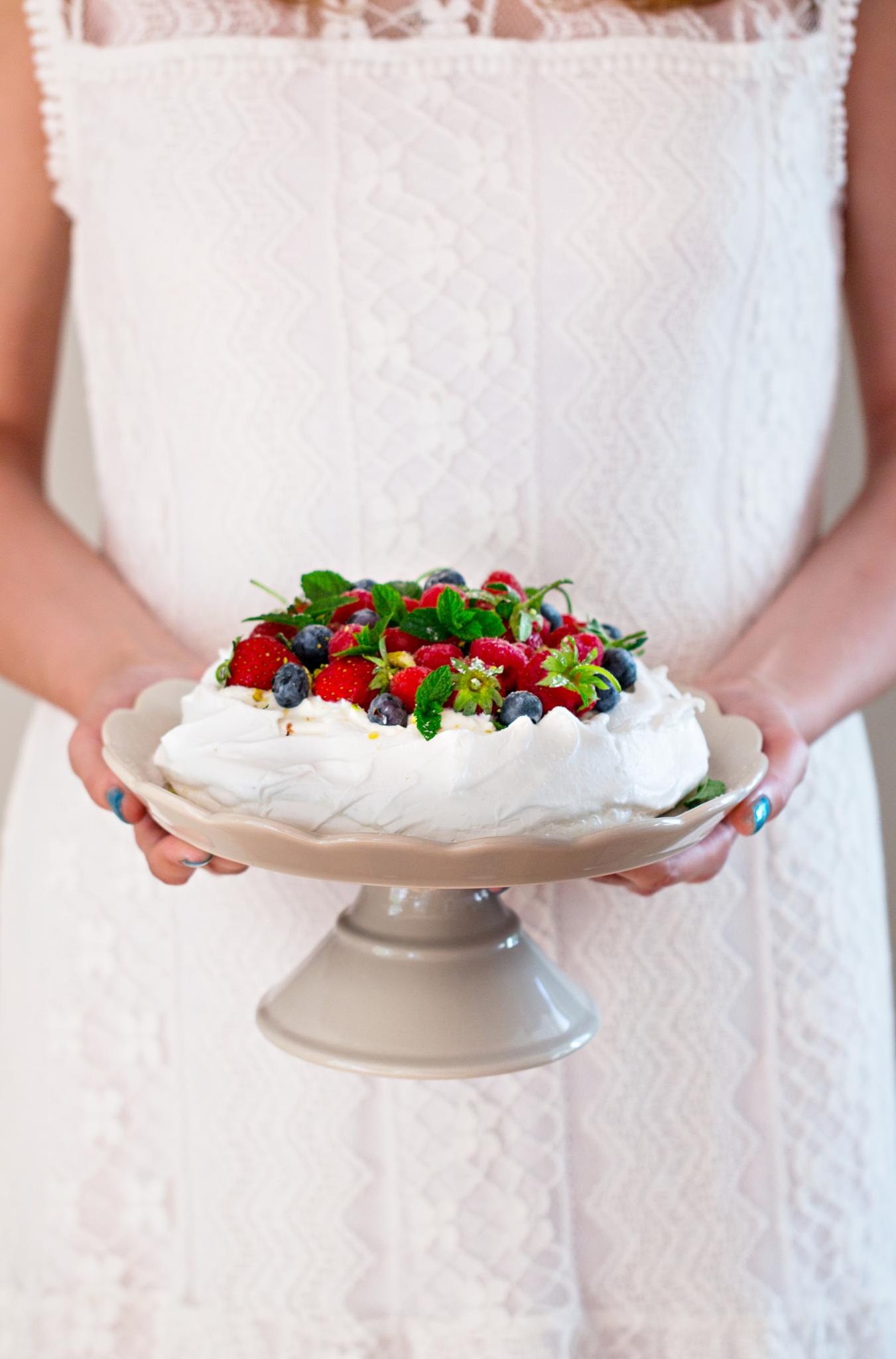 Photo in Food #pavlova #merinque #cake #kake #berry #berries #summer #sommer #dessert #beautiful #white