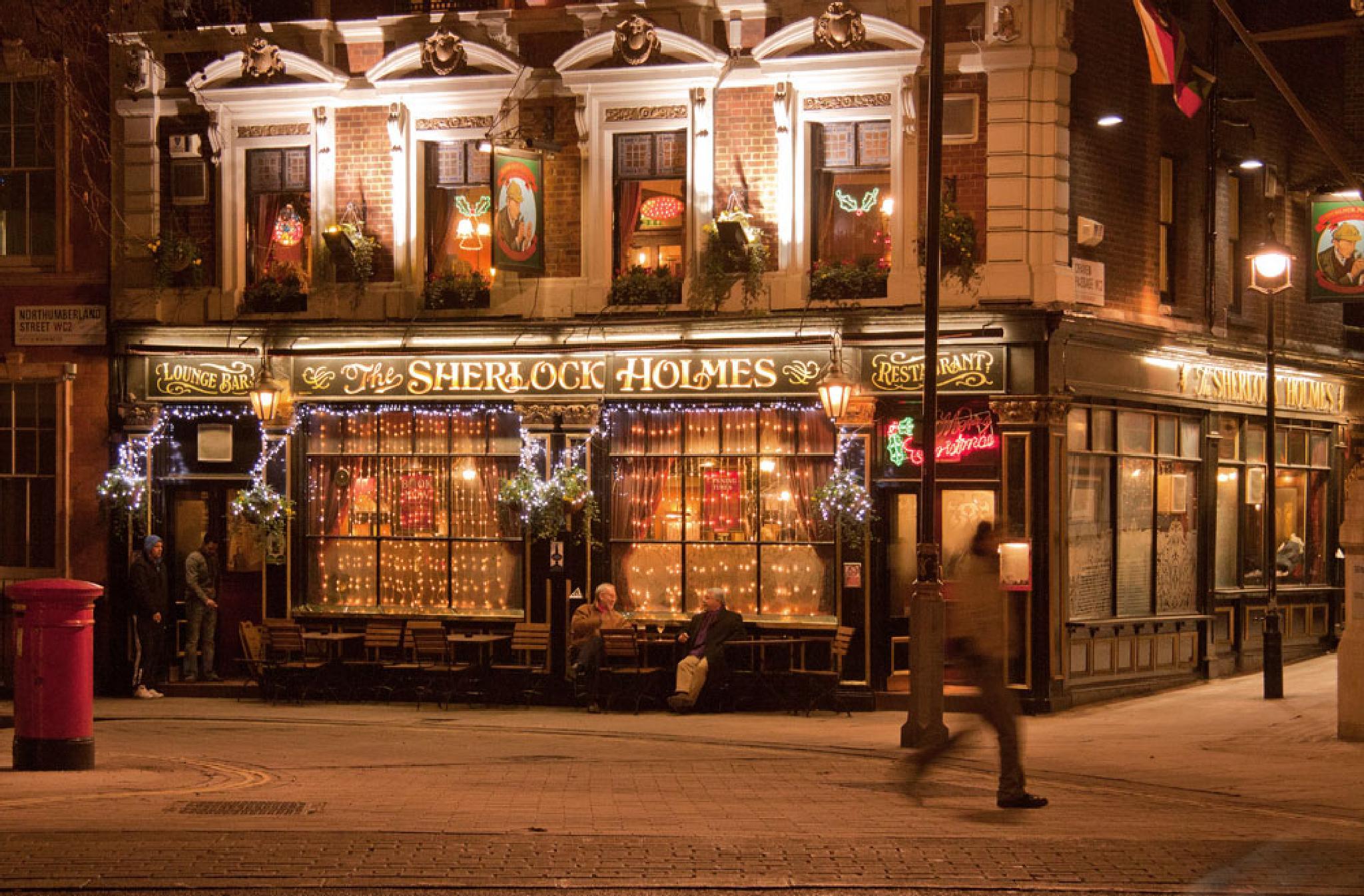Photo in Cityscape #london #restaurant #sherlock holmes #x-mas #christmas #night #light