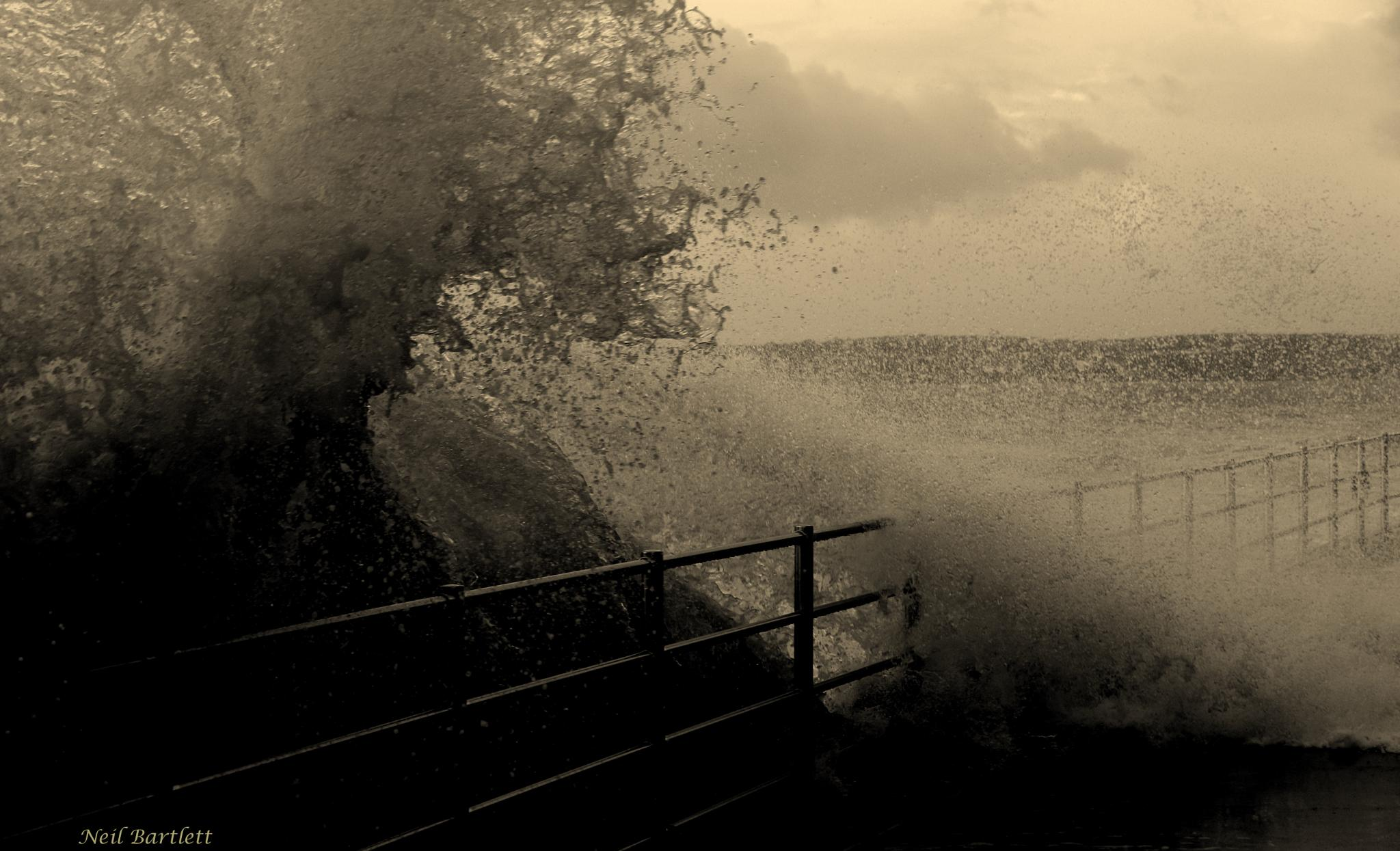 The Perfect Storm Swansea Marina WalesUK by Neil Bartlett