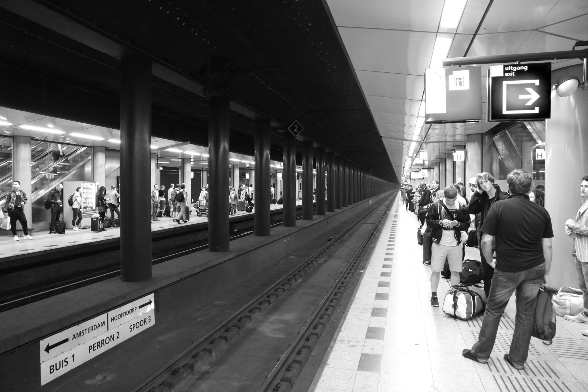 Schipol Train Station by Neil Bartlett