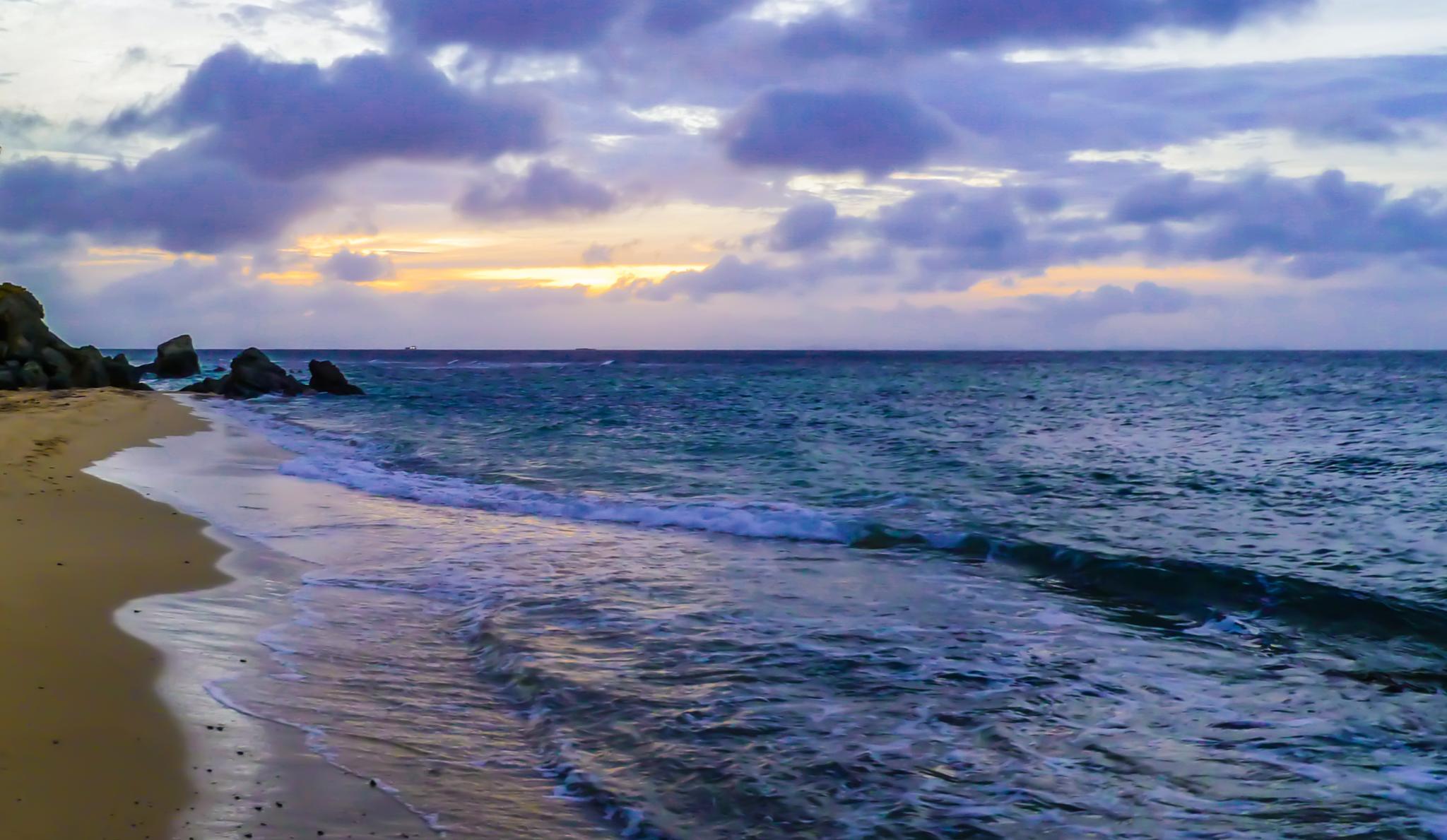Beach Sunset by Cait Templeton