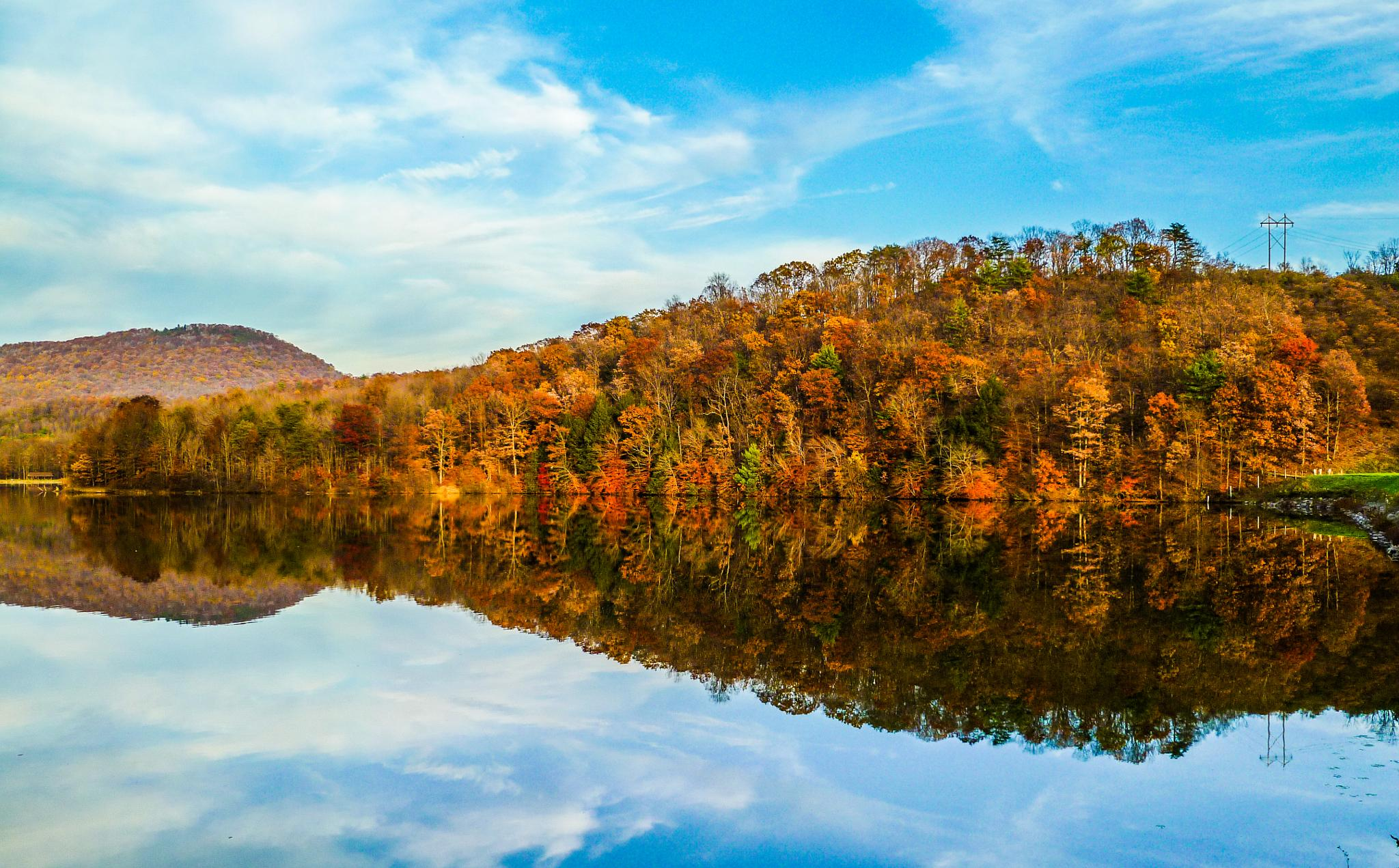Photo in Landscape #fall #lake #water #trees #park