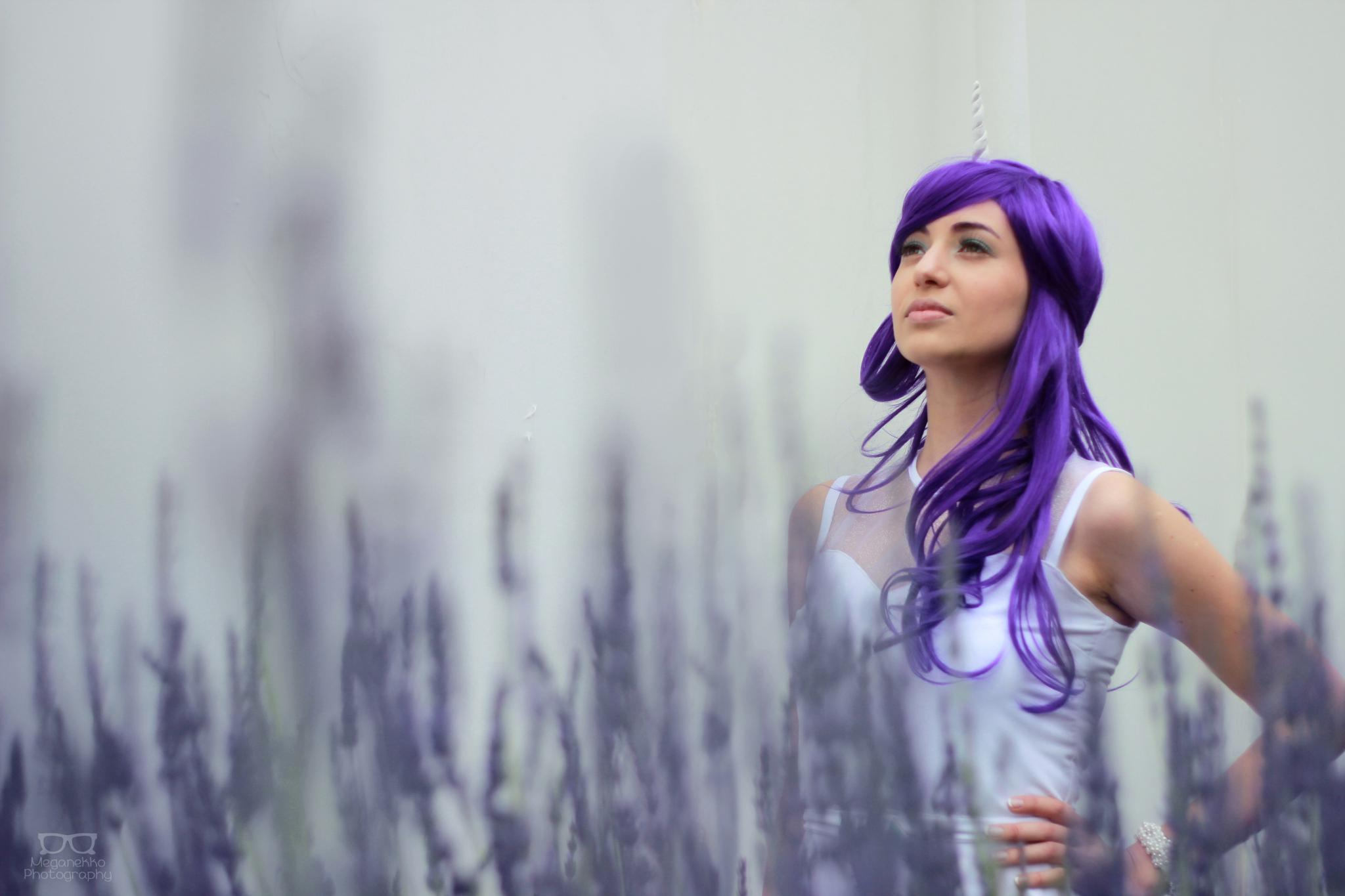 Photo in Portrait #my little pony #cosplay #cosplayer #flowers #lavender #portrait #canon #50 mm #wig