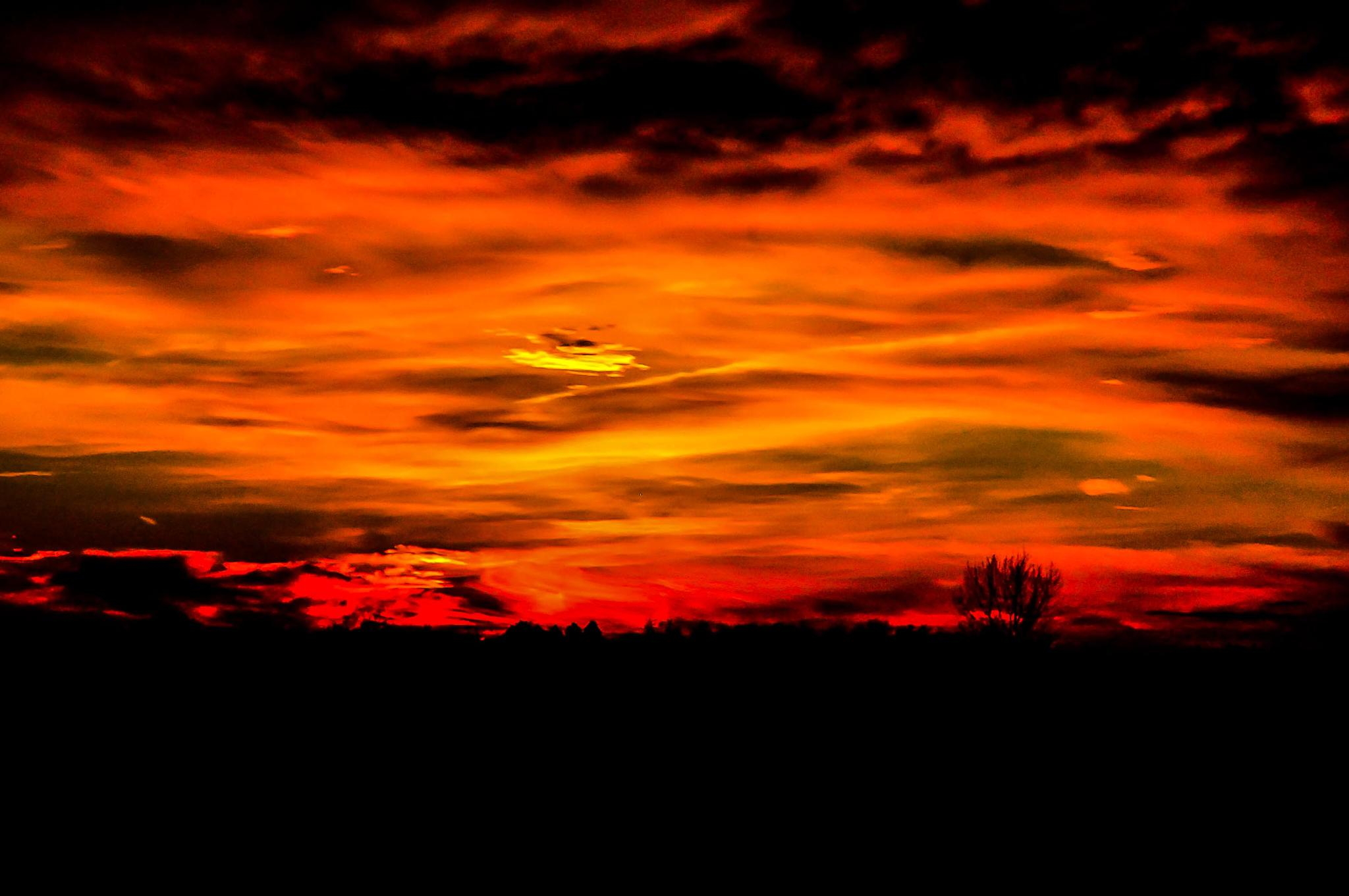 The sky is on fire by Rasmus Thomsen