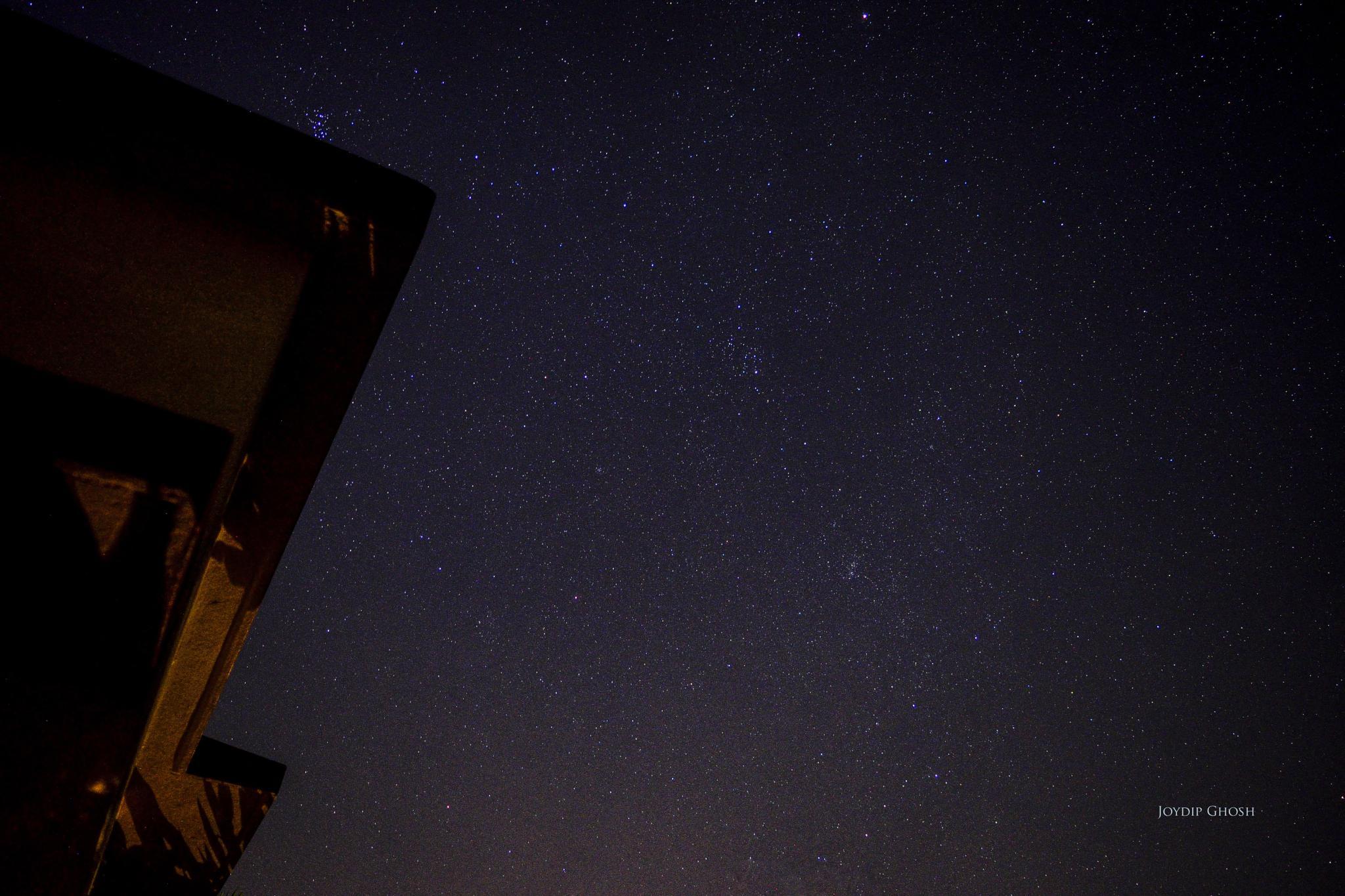 Winter triangle rising ... by Joydip Ghosh