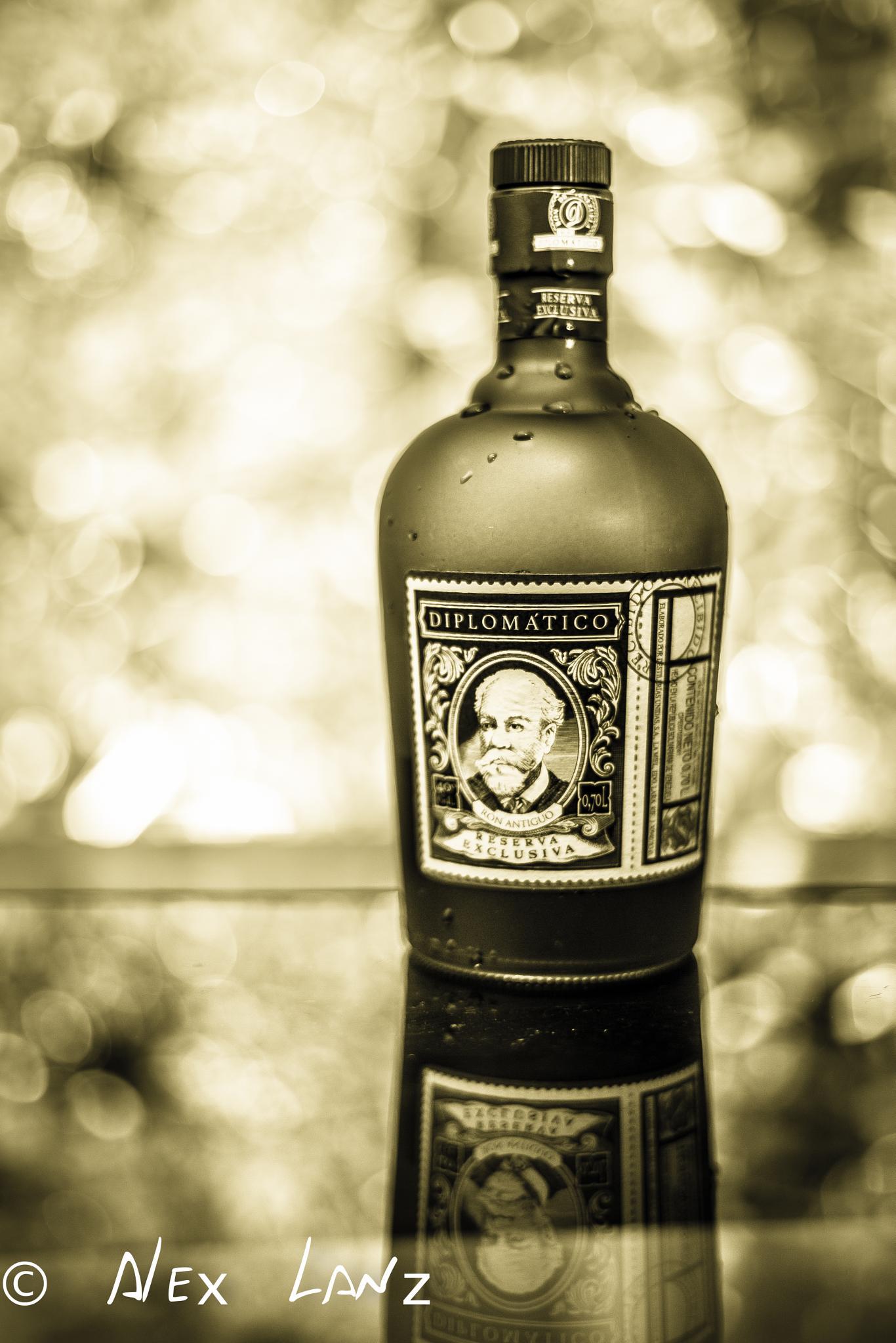 Photo in Black and White #bokeh #venezuela #brasil #brazil #manaus #rum #drink
