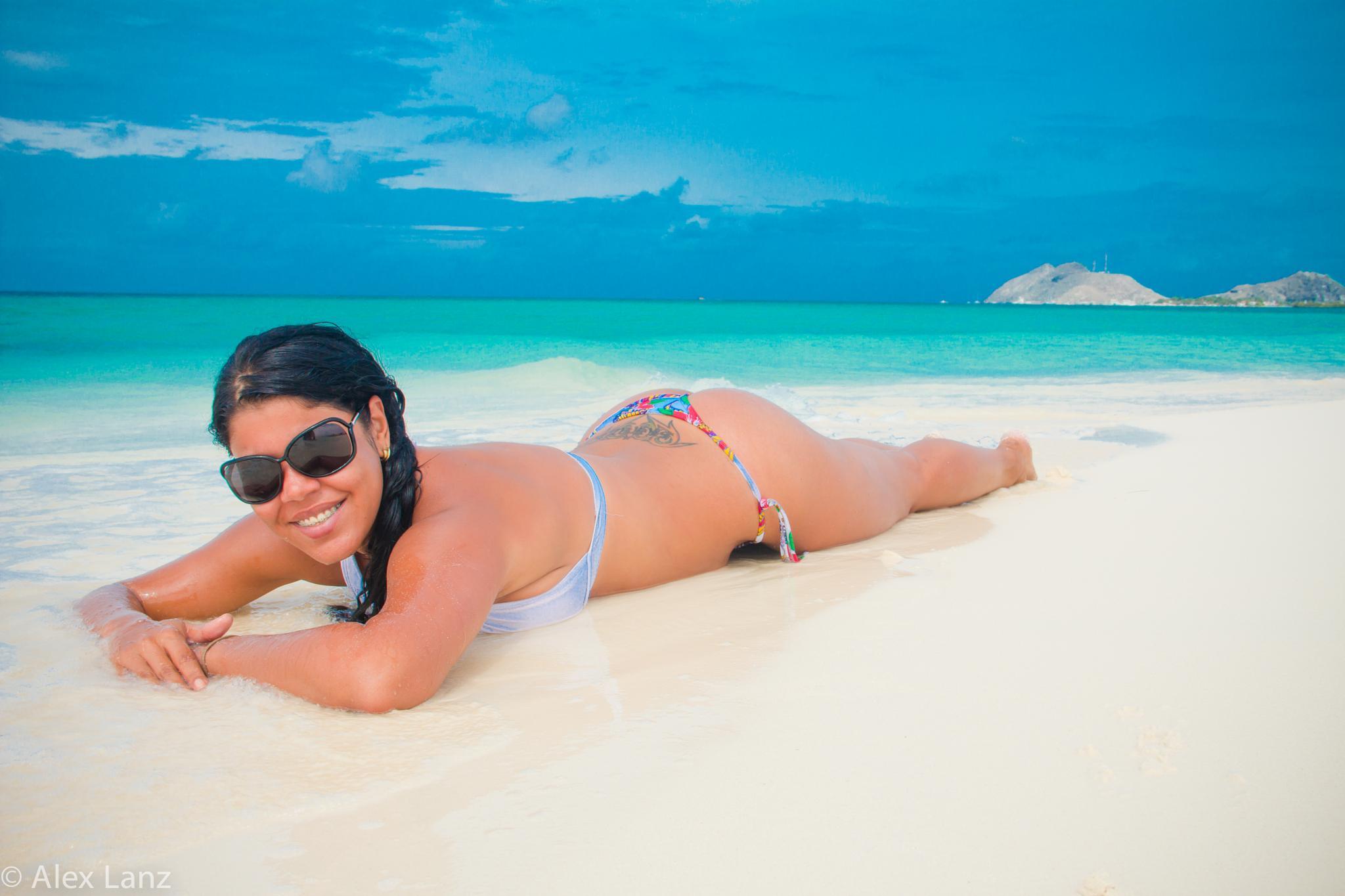 Photo in Travel #beach #sand #woman #praia #playa #venezuela