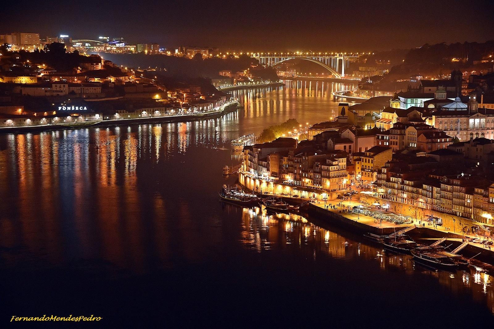 Porto and Gaia by night by FernandoPedro