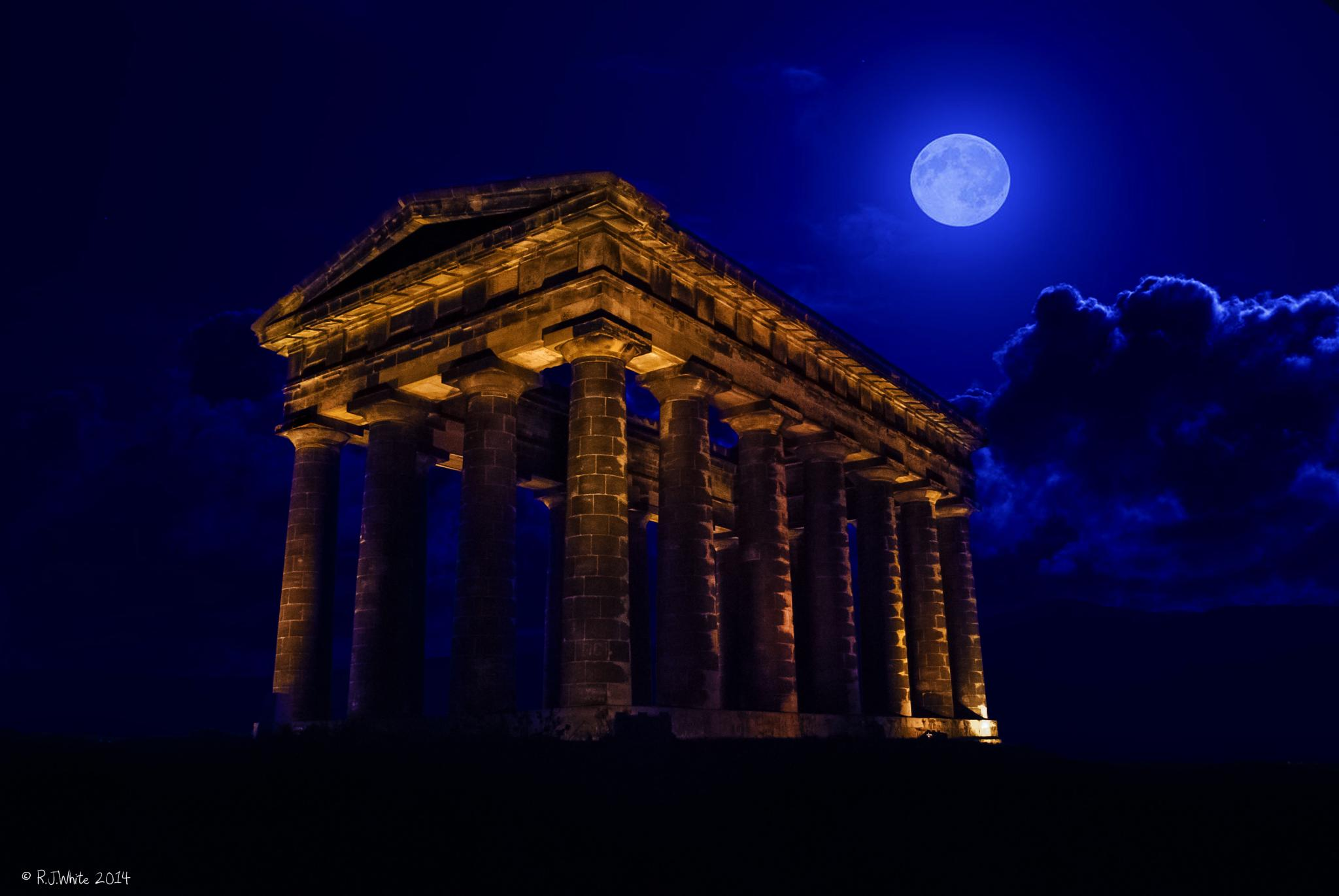 Penshaw Monument by Moonlight by Bobby White