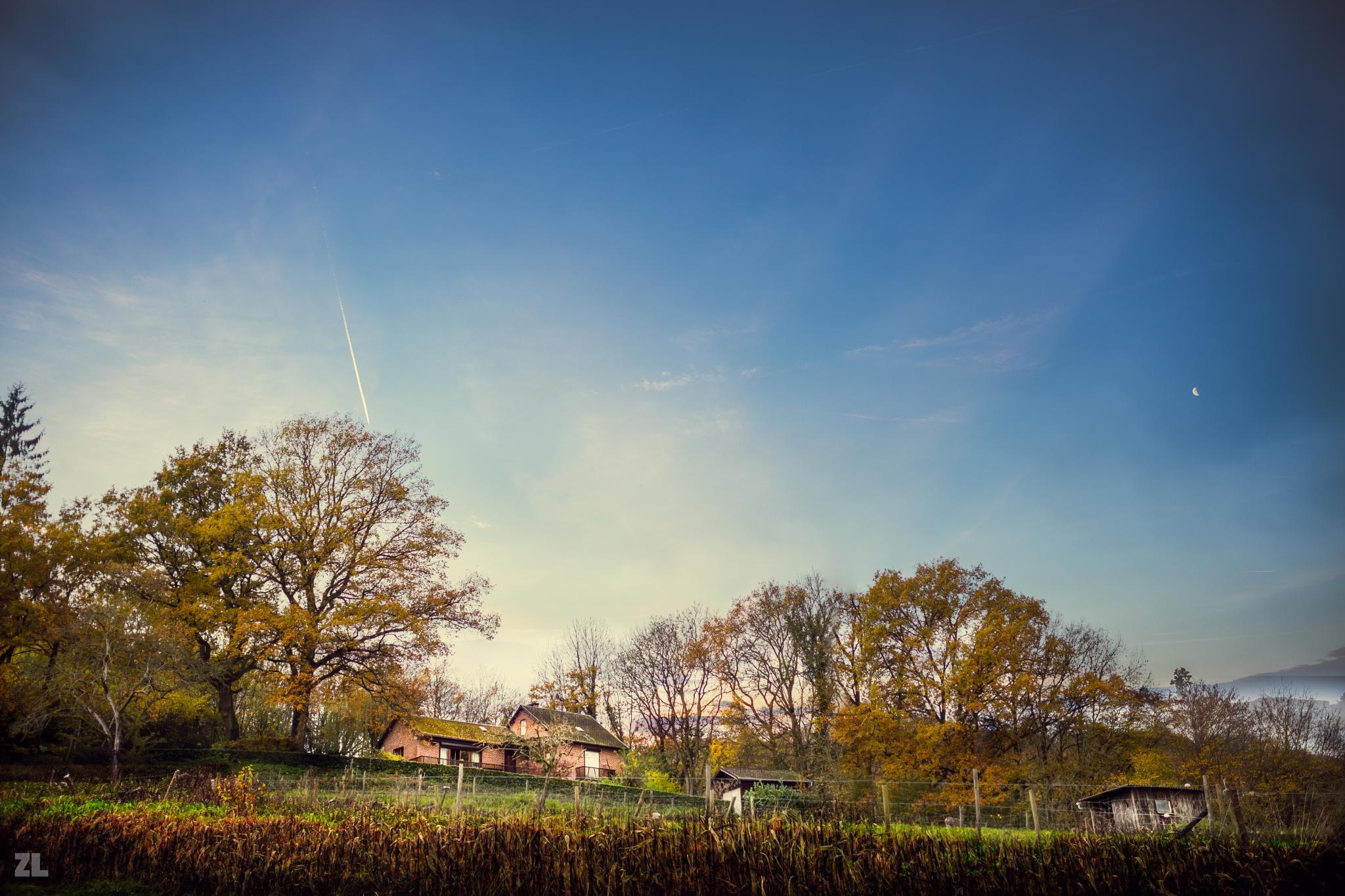 Small houses under blue sky  by nguyenlinh.zane