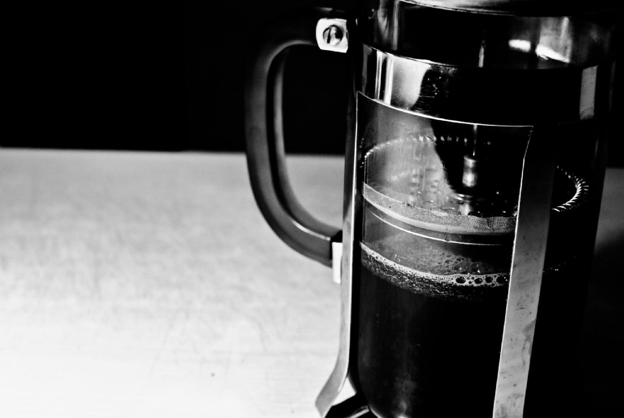 Photo in Black and White #coffee #black and white