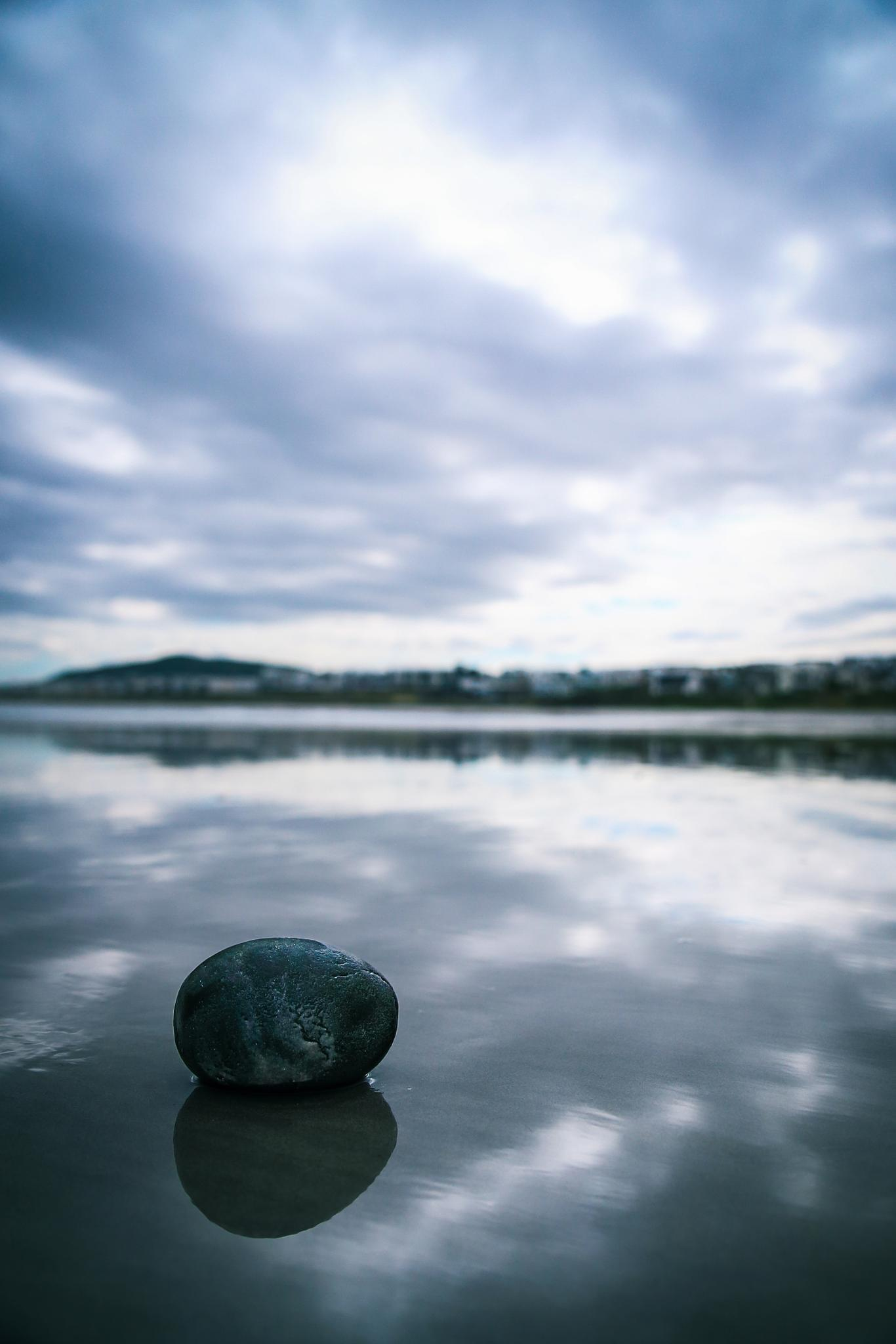 Photo in Nature #rock #clouds #reflection
