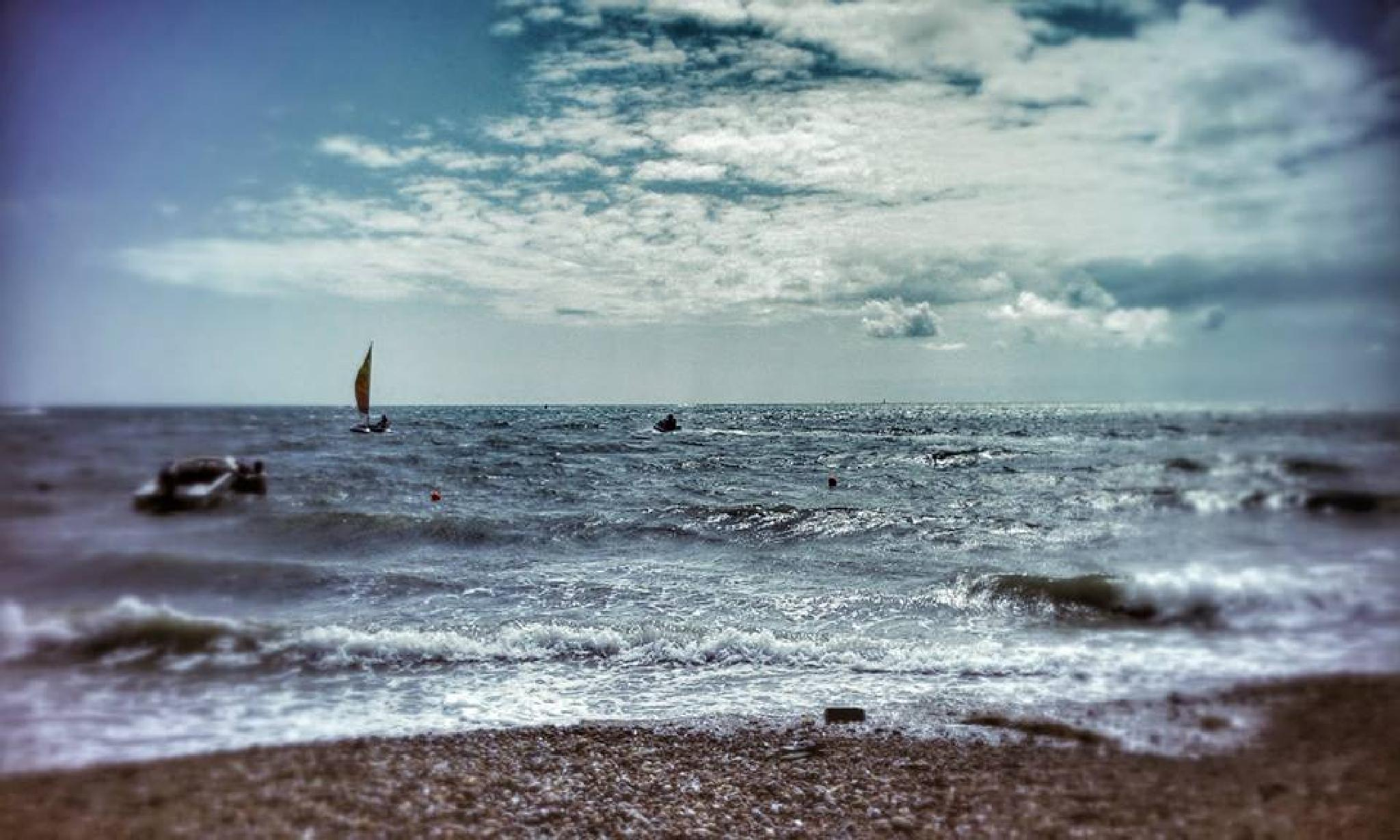 Photo in Sea and Sand #sea #seaside #beach #boats #summer