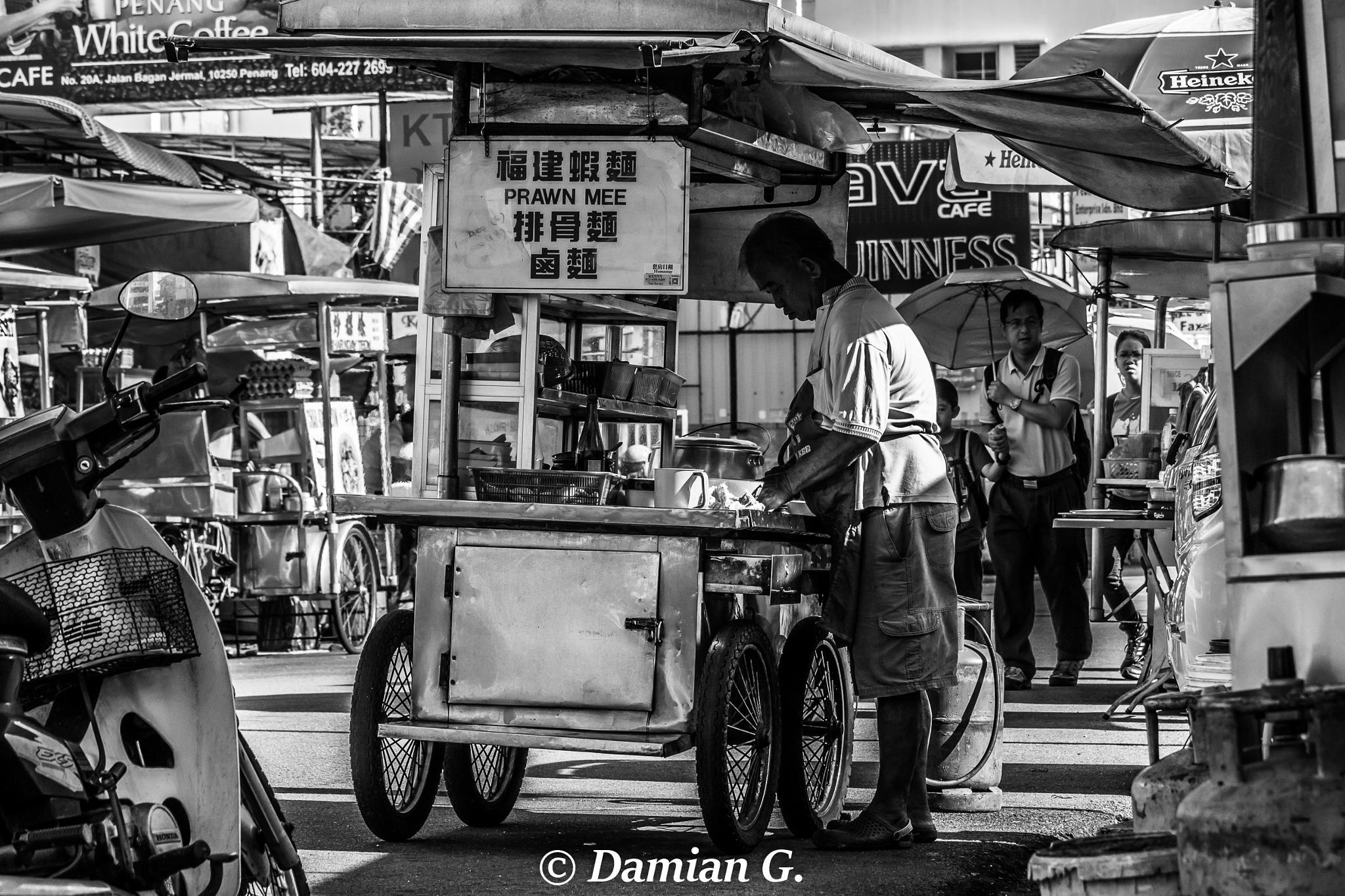 Street Vendor, Penang by damianstm06