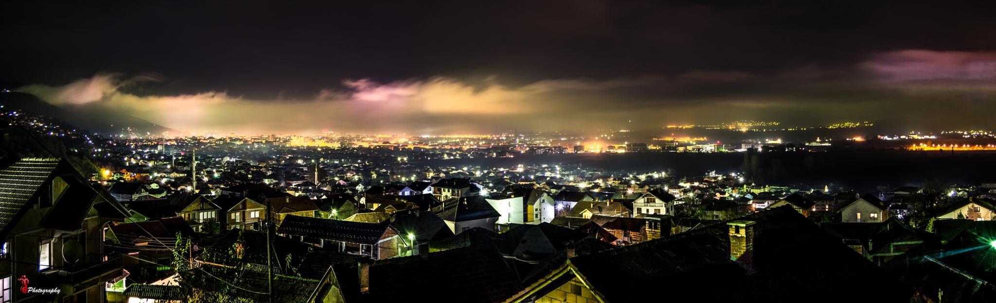 Cityscape at night - Tetovo by Jetmir Sejdia