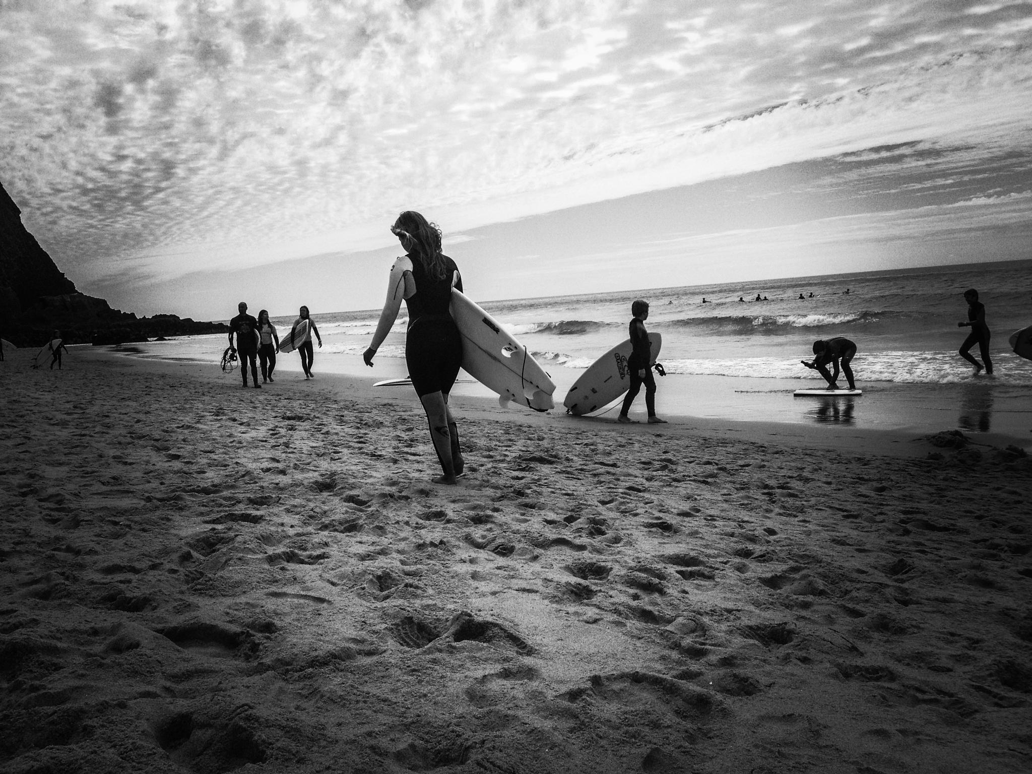 Photo in People #surf #praia grande #black&white