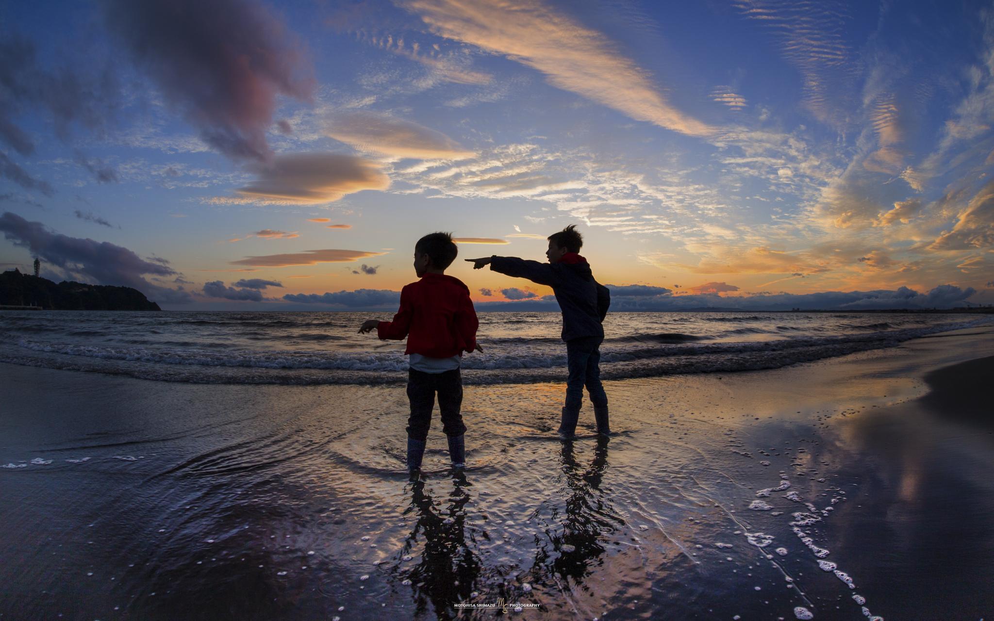 Photo in Sea and Sand #sunset #beach #sea
