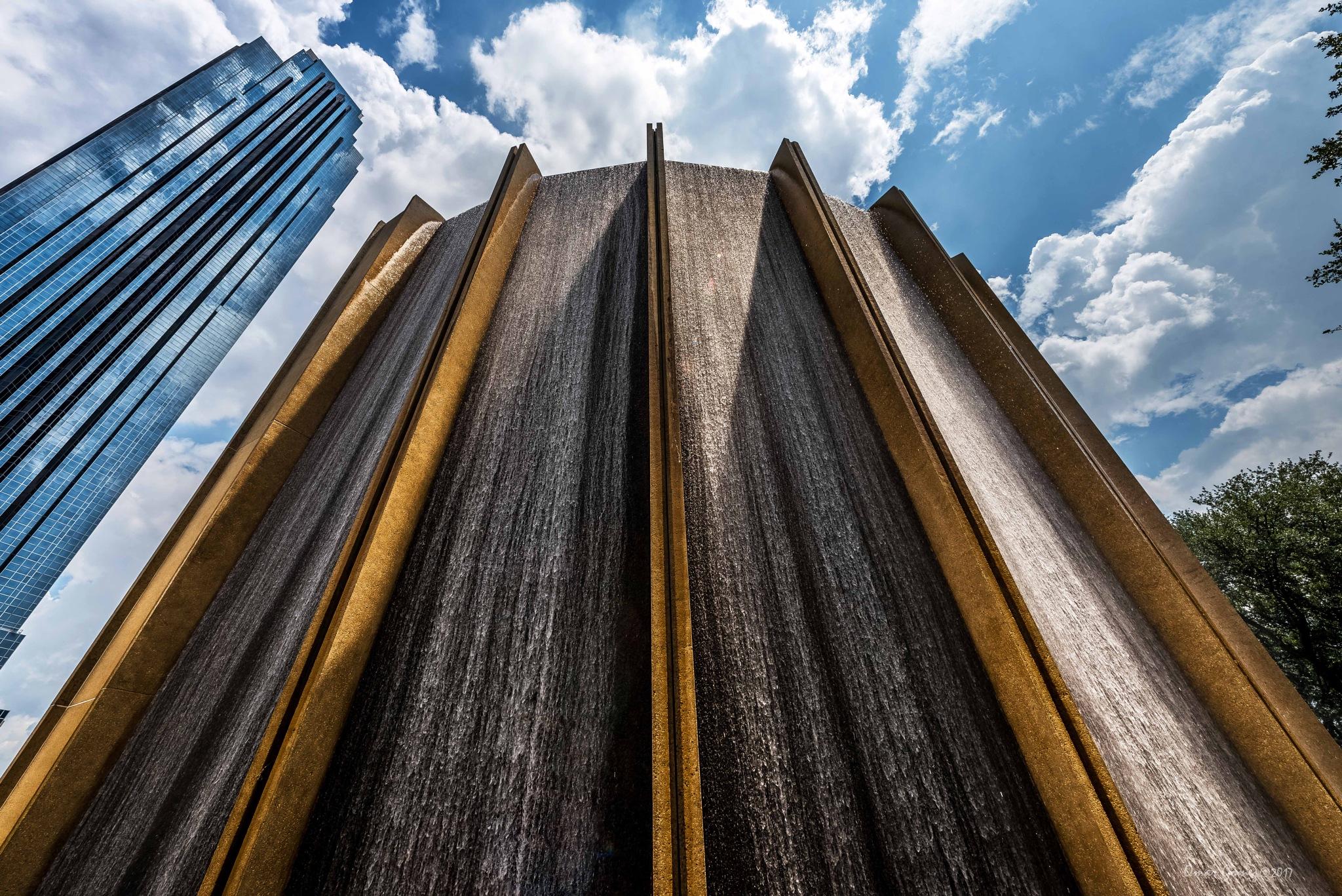 Houston Waterwall by Omar Gomez