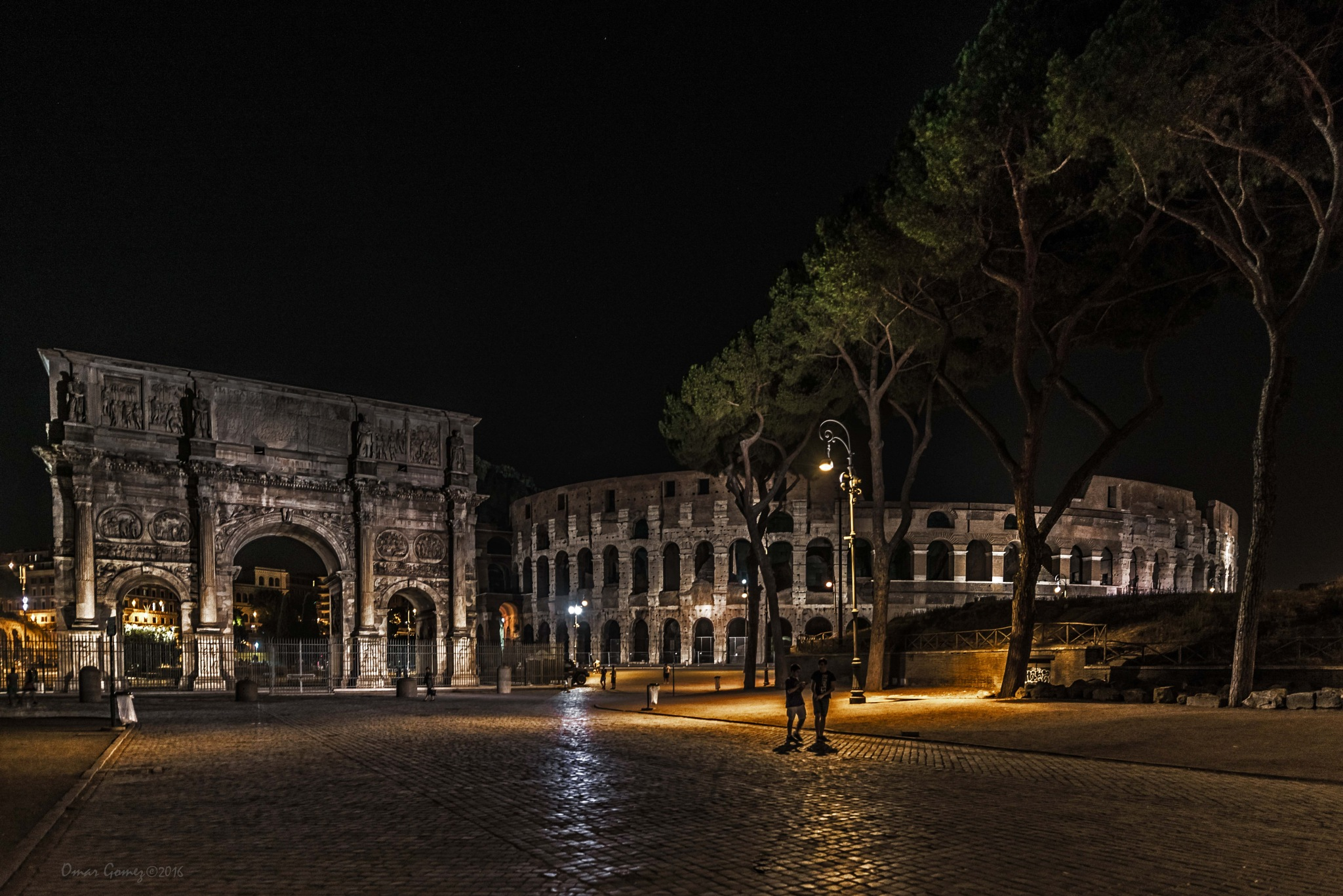 Road to The Colosseum by Omar Gomez