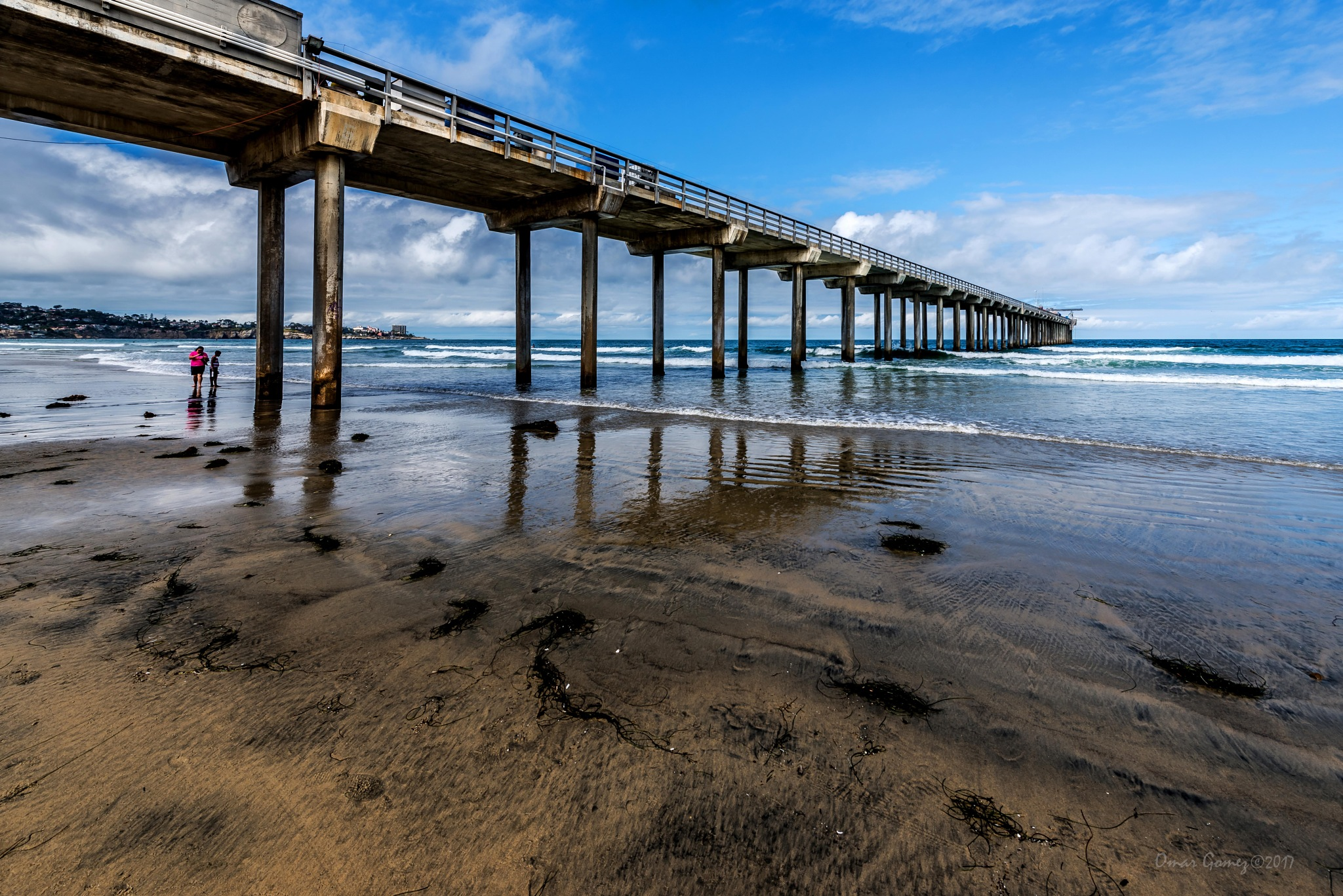 Scripps Pier From The Side by Omar Gomez