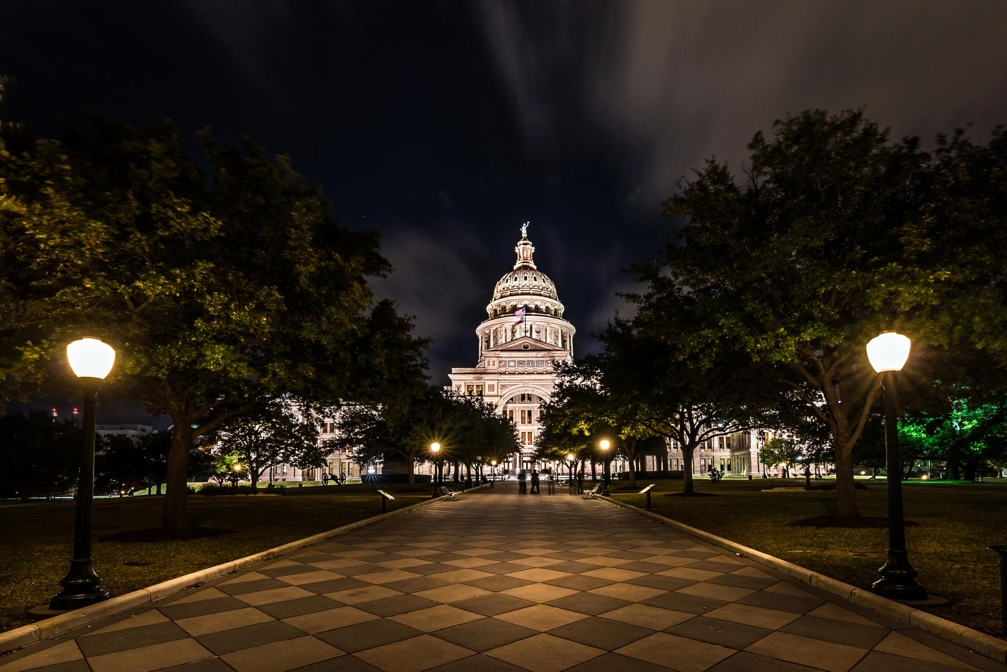 Texas State Capitol From The Front by Omar Gomez