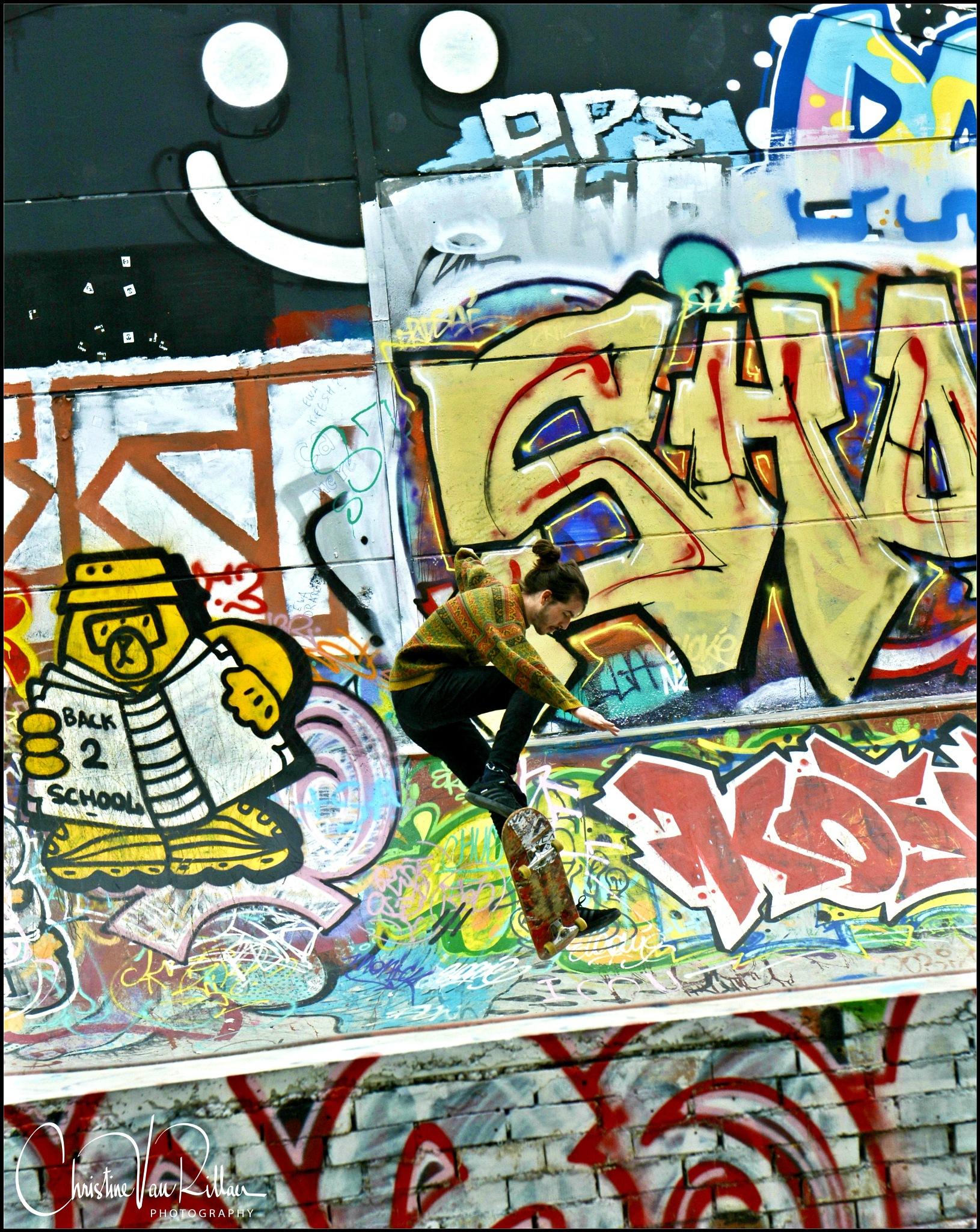 Skate board fun by Chris