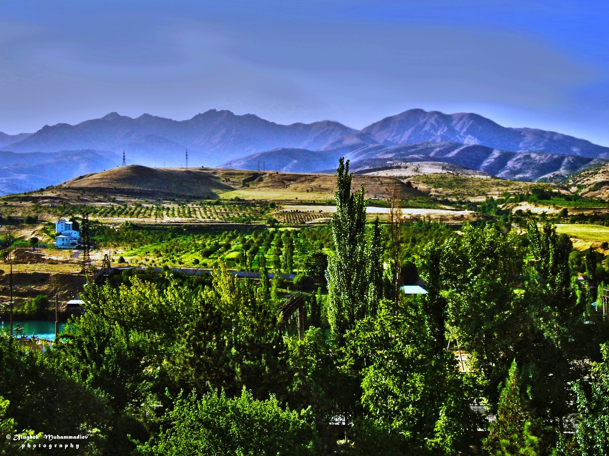 Landscape of the village Hozhikent ... by Ulugbek