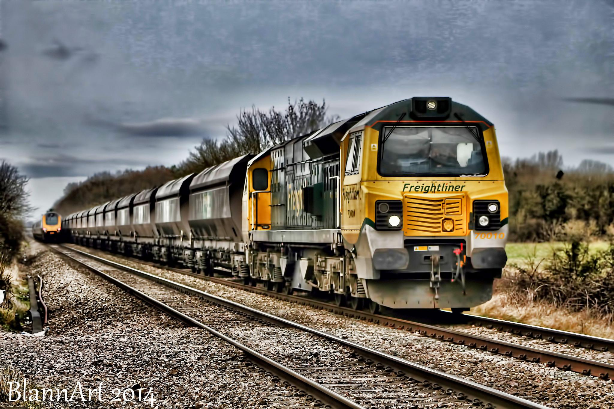 Modern traction in passing by Phil Blann