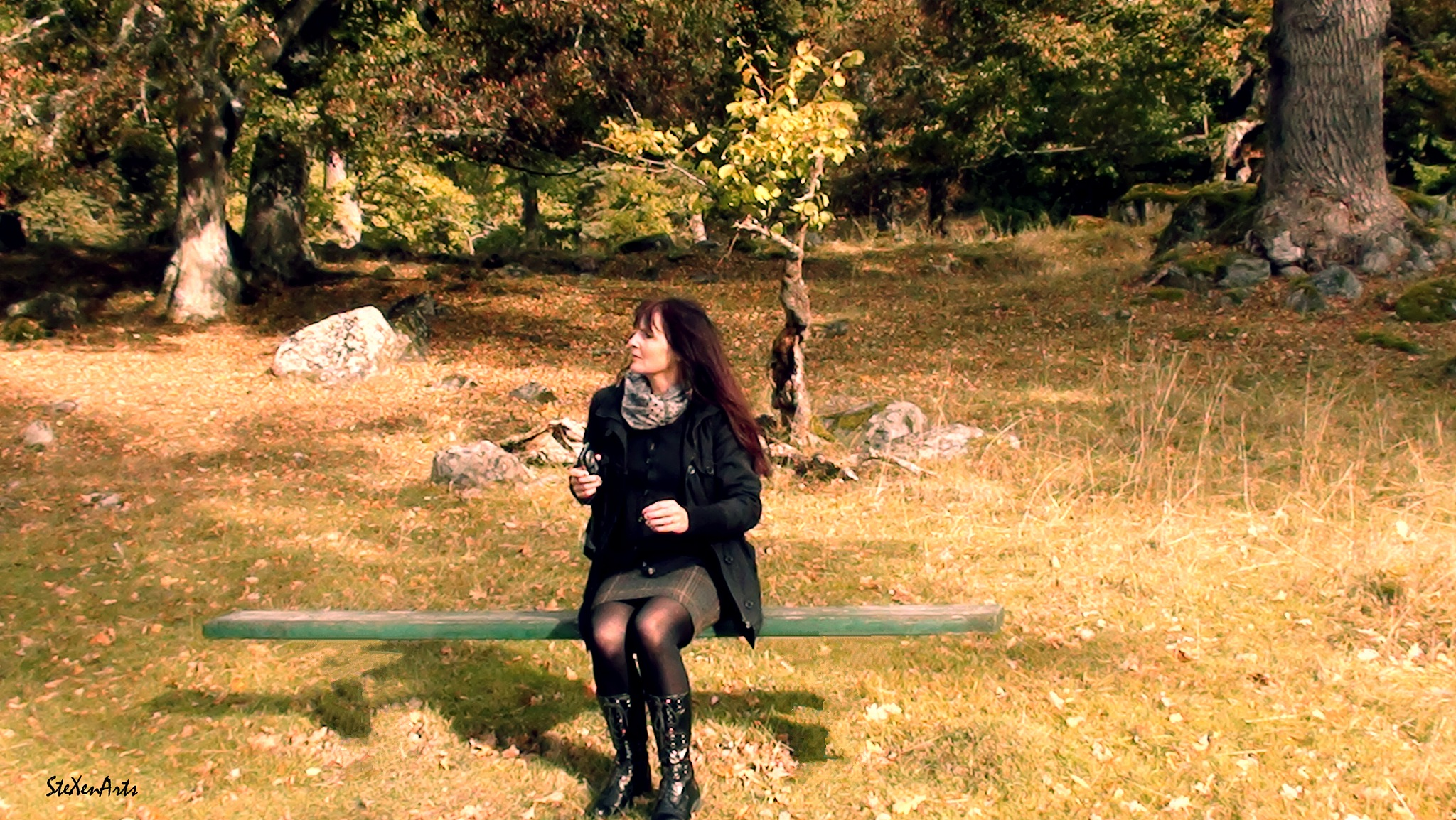 a bench for a witch :) by Sanna