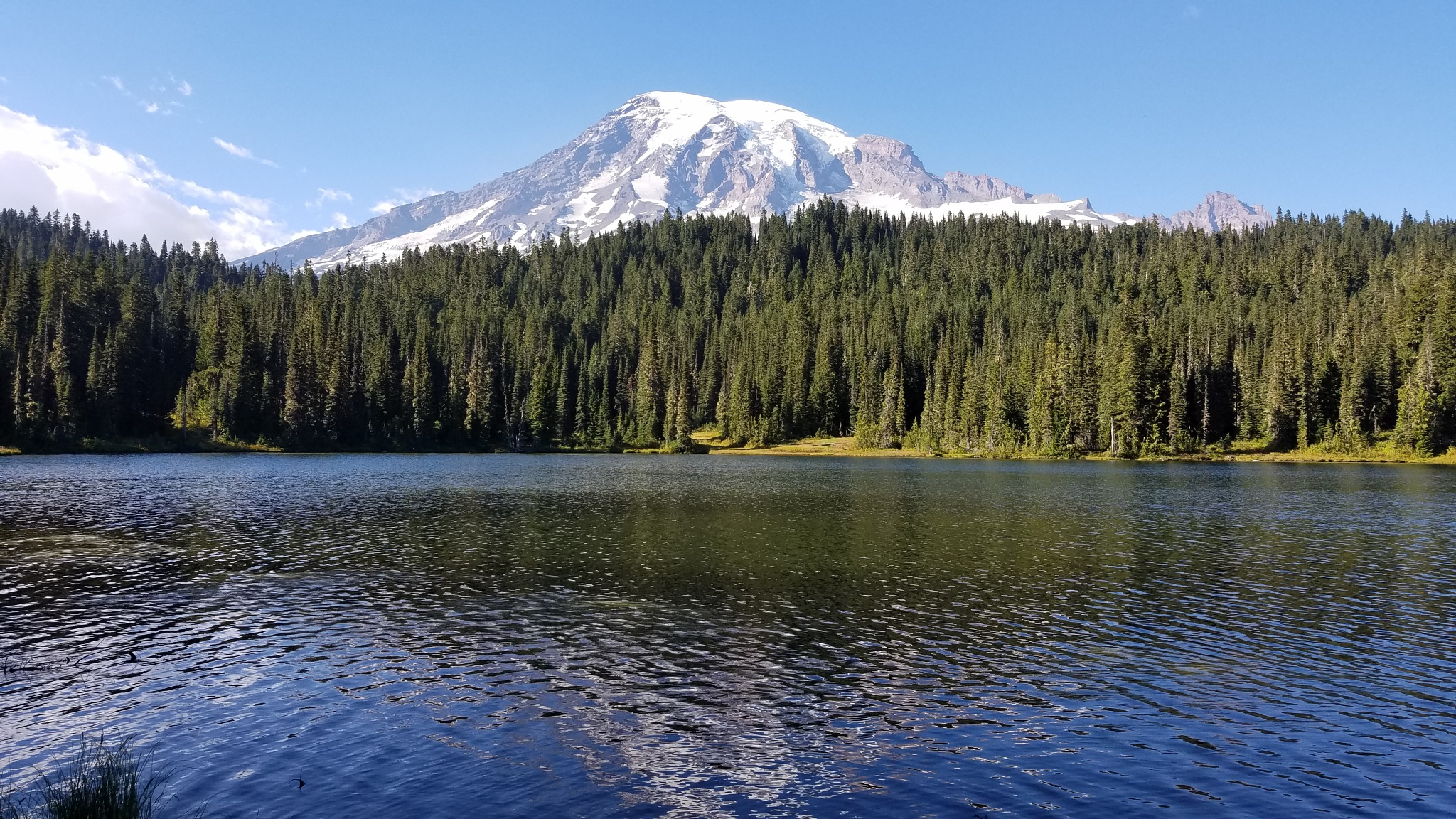Mirror Lake with Mount Rainier in the background  by cariealbers
