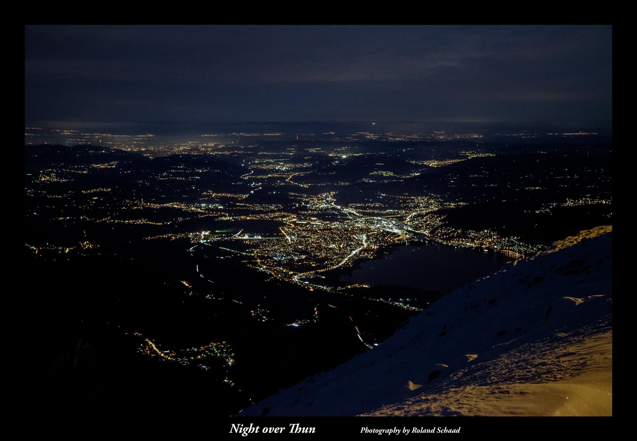 Night over Thun by Roland Schaad