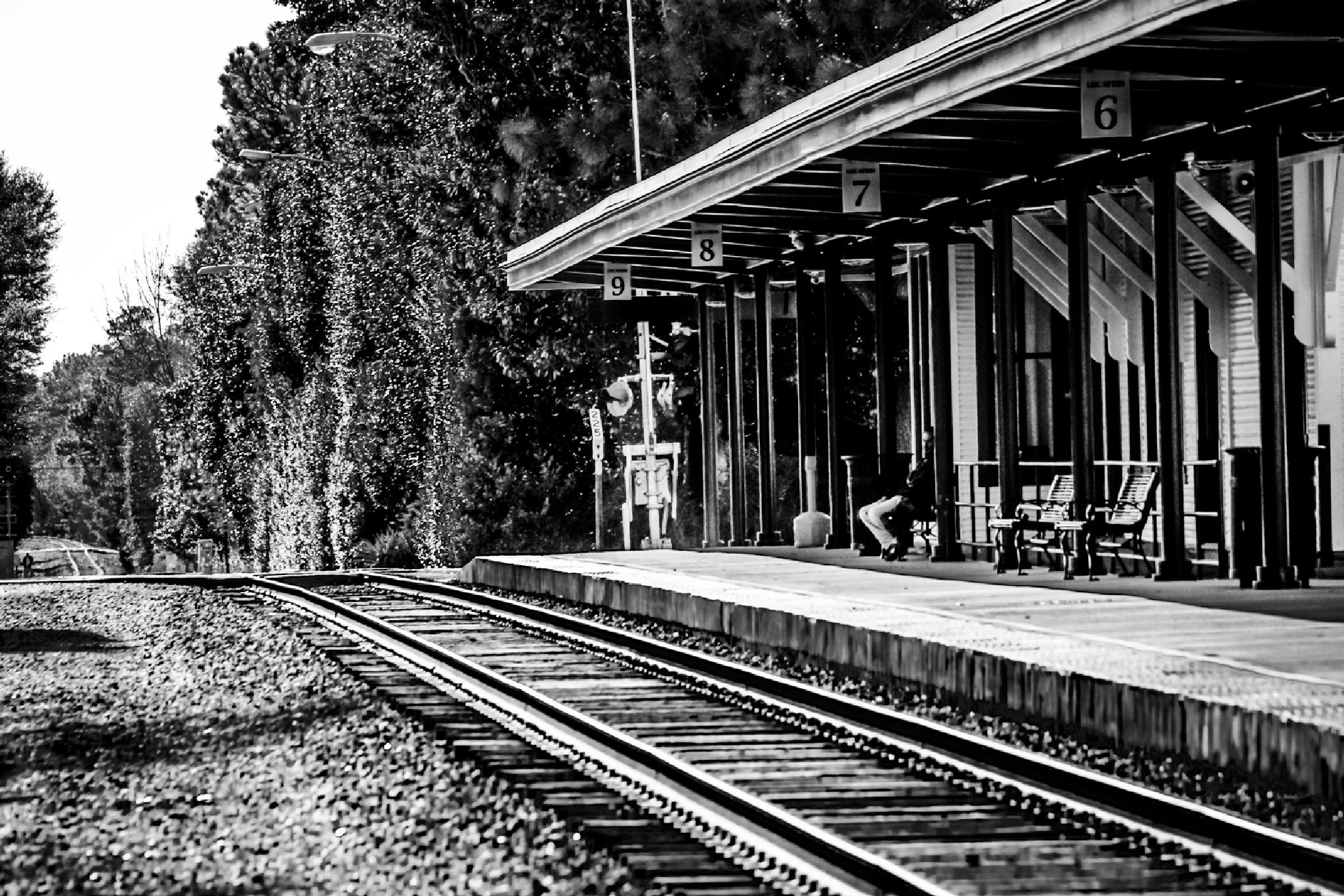 Waitin on a Train by NaturesVeiwsPhotography