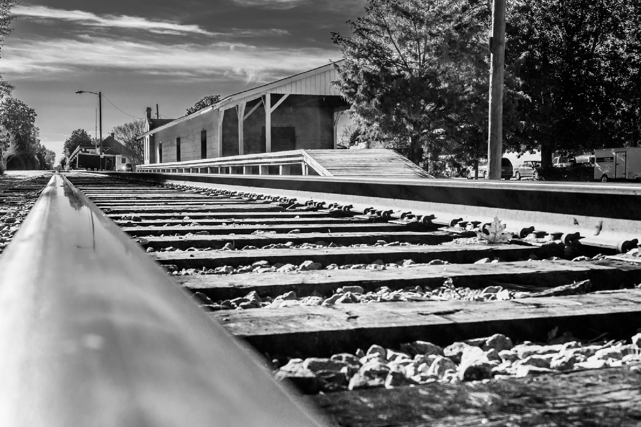 Long Steel Rails by NaturesVeiwsPhotography