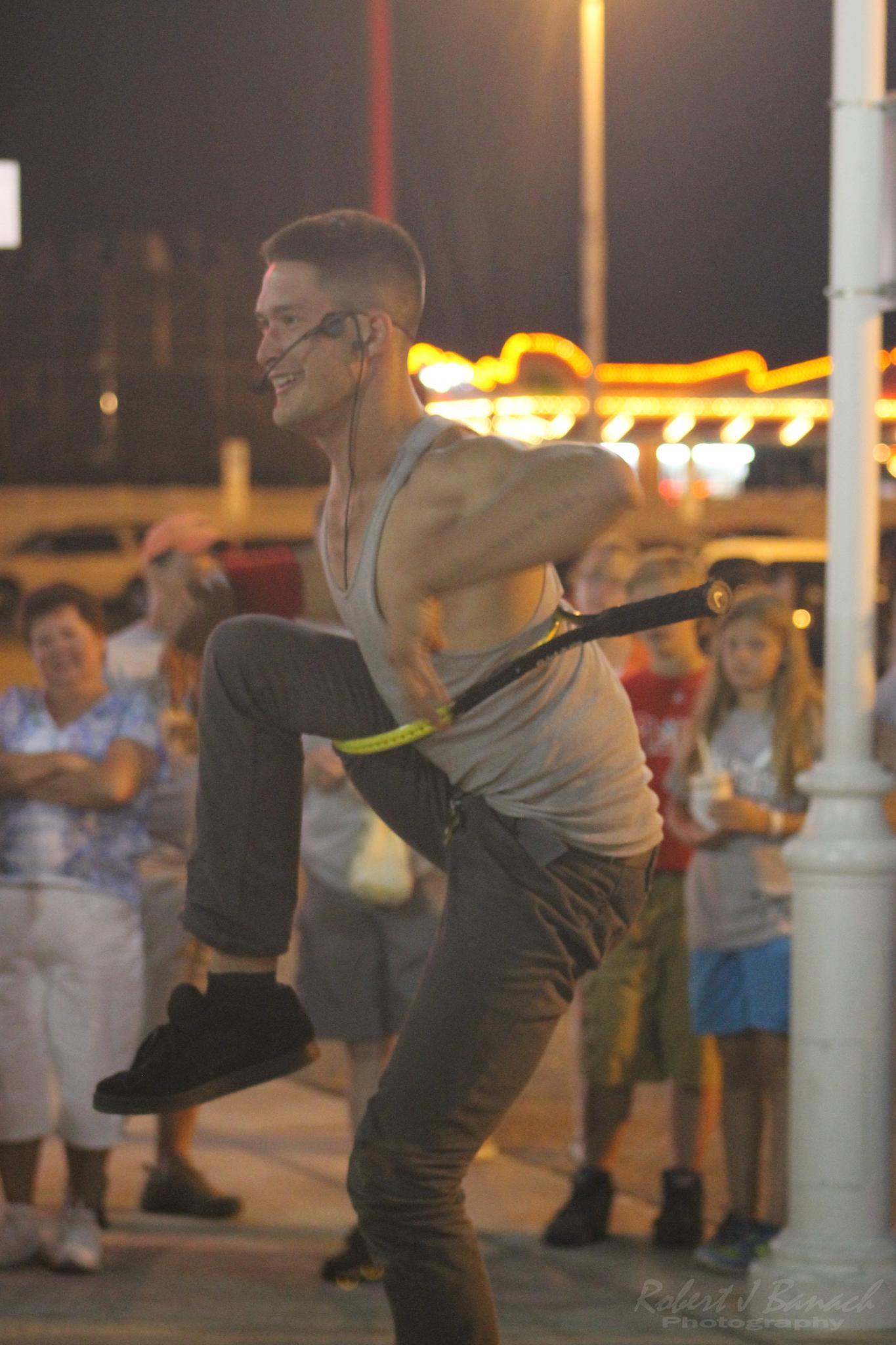 Photo in Street Photography #street performer #artist #escape artist #magic #boardwalk #ocean city md