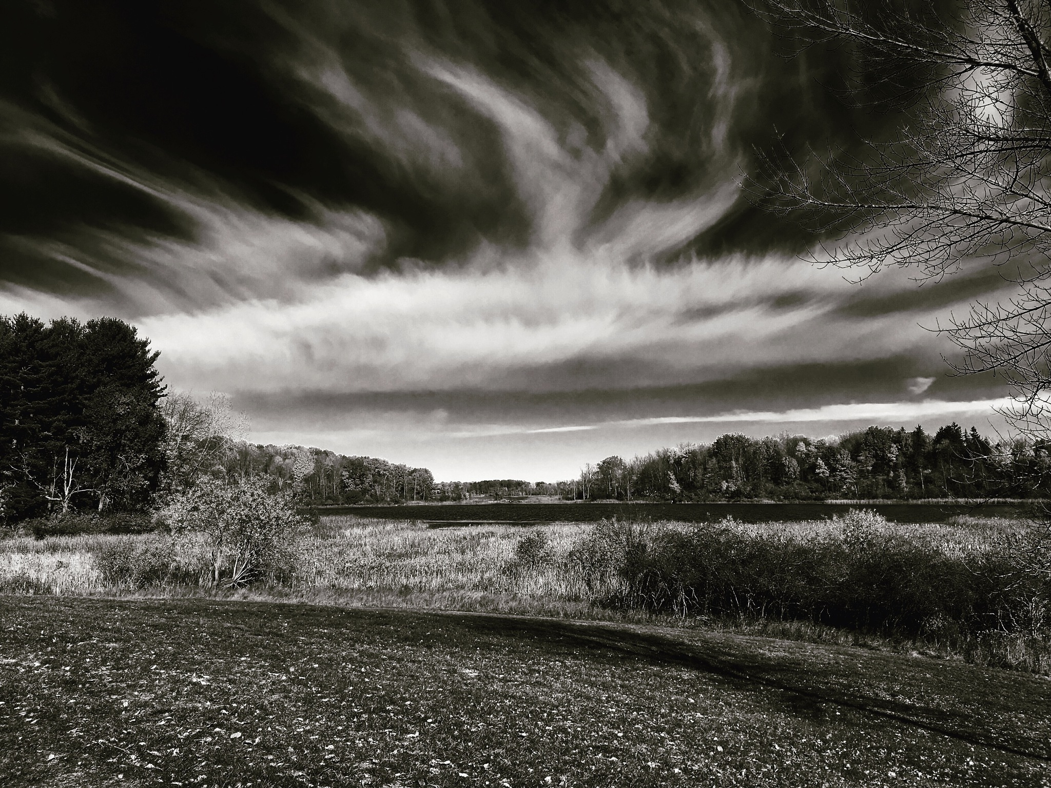 Sky Over Mendon Ponds by Thomas Merring