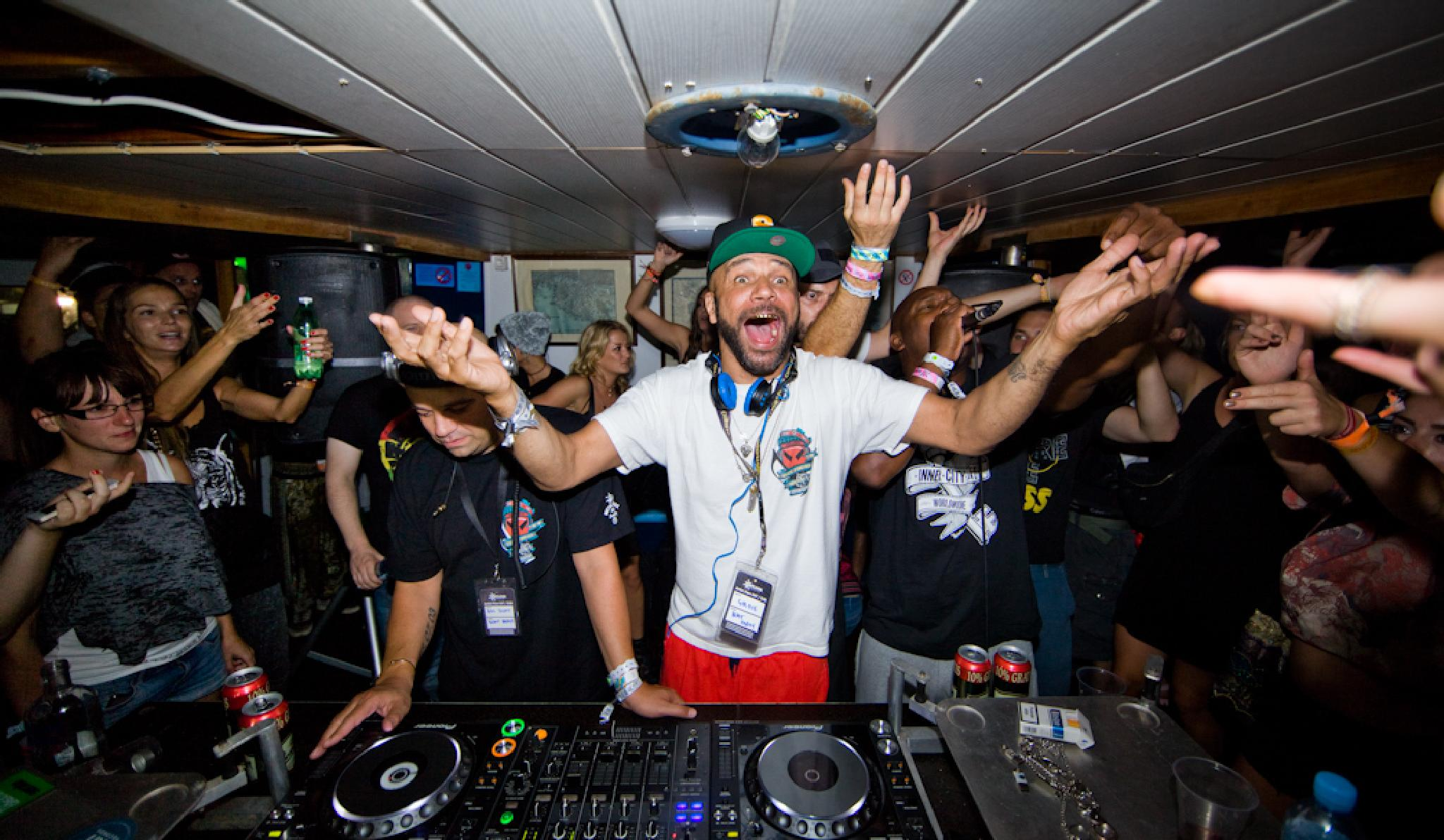 Goldie, Doc Scott & GQ on the Metalheadz Boat party @ Outlook Festival 2014. by TomOne