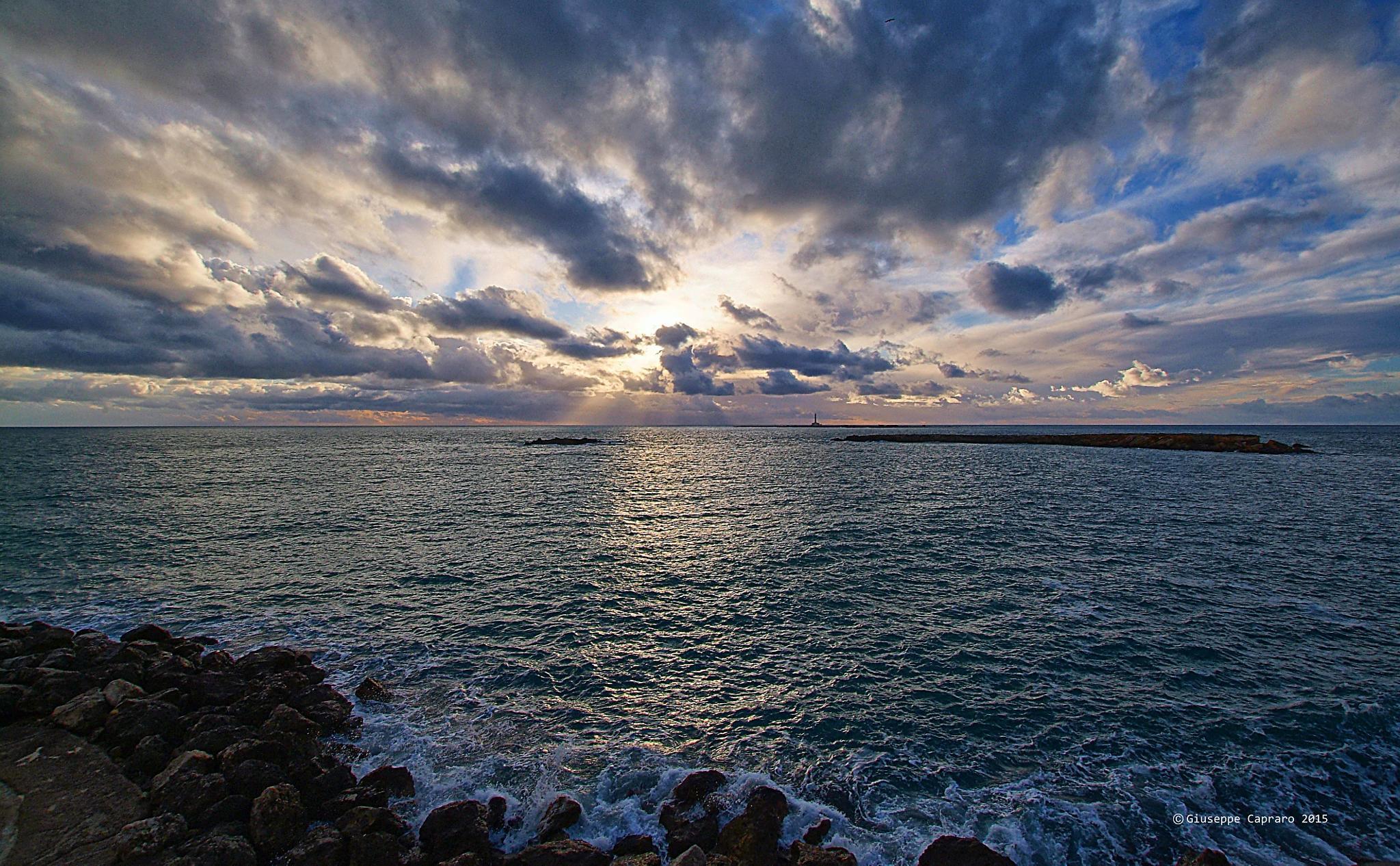 Winter sea by Giuseppe Capraro