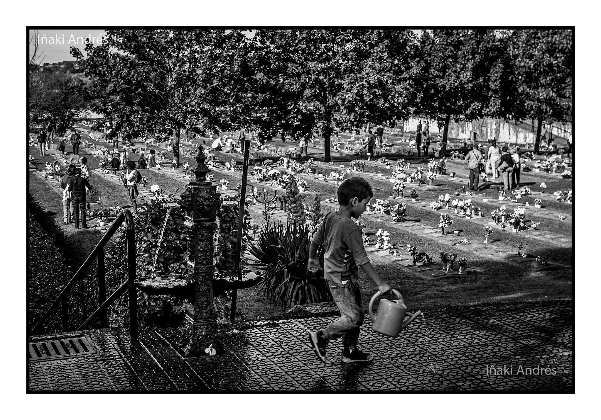 Regando en el jardín de las almas. by Iñaki Andrés.