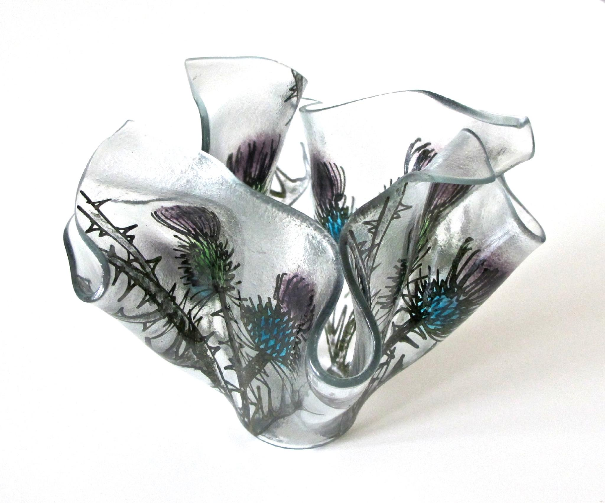Thistle Handkerchief Vase by Carrie Paxton